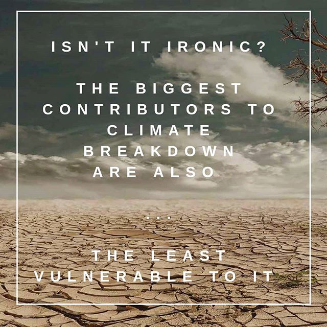 """AND THAT, LADIES AND GENTLEMAN, IS WHY WE NEED CLIMATE JUSTICE ✊  According to scientists, while Europe and the US will definitely feel climate breakdown, the most affected aread will be in Africa, small island nations and South East Asia.  These areas are the least responsible for climate breakfown and local communities have actually been bearing the burden of rich countries overconsumption and exploitation of resources 🚫  Therefore, simple climate """"adaptation"""" is not enough.  1st of all because many of the countries in the global south can not afford the technology and the investment to achieve that. 2nd of all  because those most responsible for climate breakdown should live up to their historical, moral and legal responsibilities by going carbon neutral FAST and providing appropriate financial support and transfer of clean technology to those most affected.  This is why advocating for climate justice is SO SO important. Addressing climate change while achieving human rights, human development and equity.  This means sharing its burdens and its impacts equitably and fairly and acknowledging the responsibility of industrialised countries in fucking up the climate.  If you want to know more, check out @mothersinvent podcast and Mary Robinson's Foundation."""