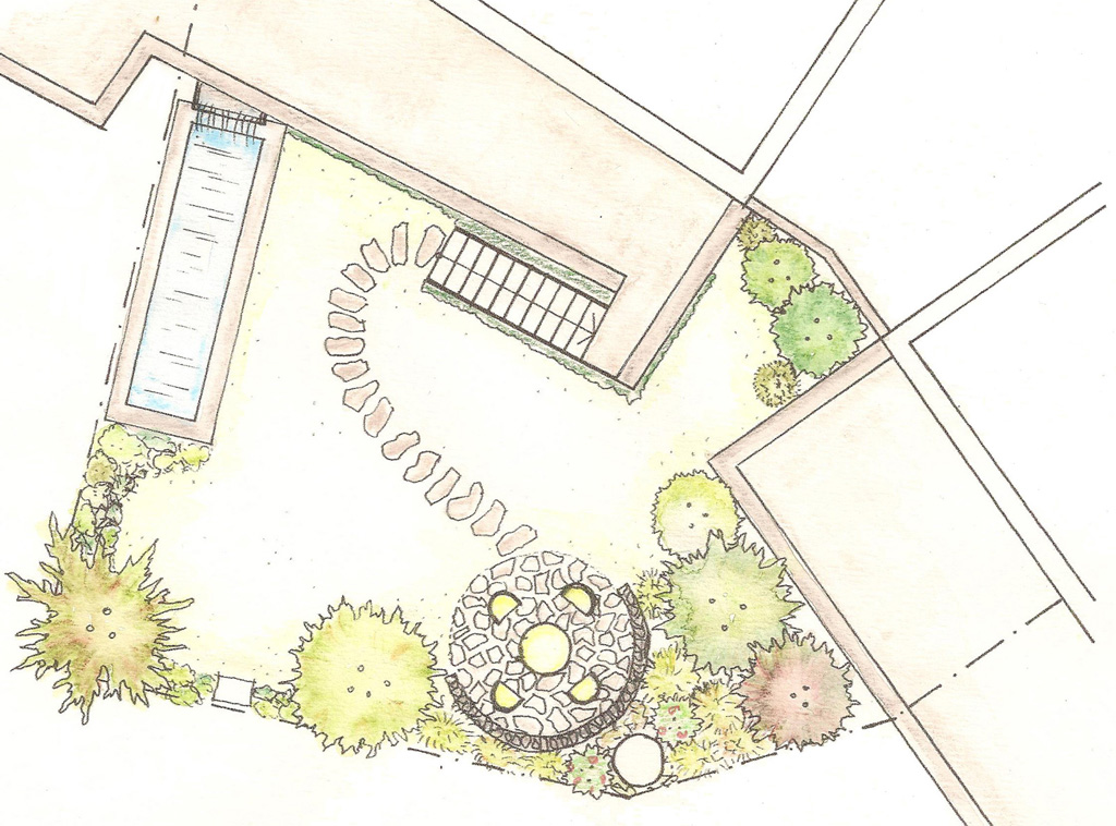 Entwurf Privatgarten F.