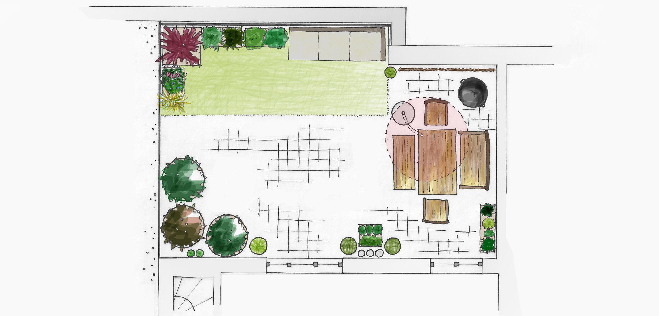 Dach-Terrassen-Konzept L.