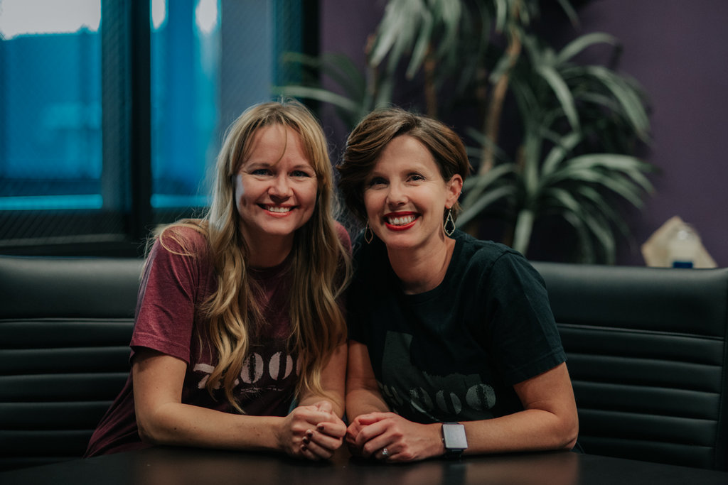 Co-founders - Angie Goeke and Alicia Maroney