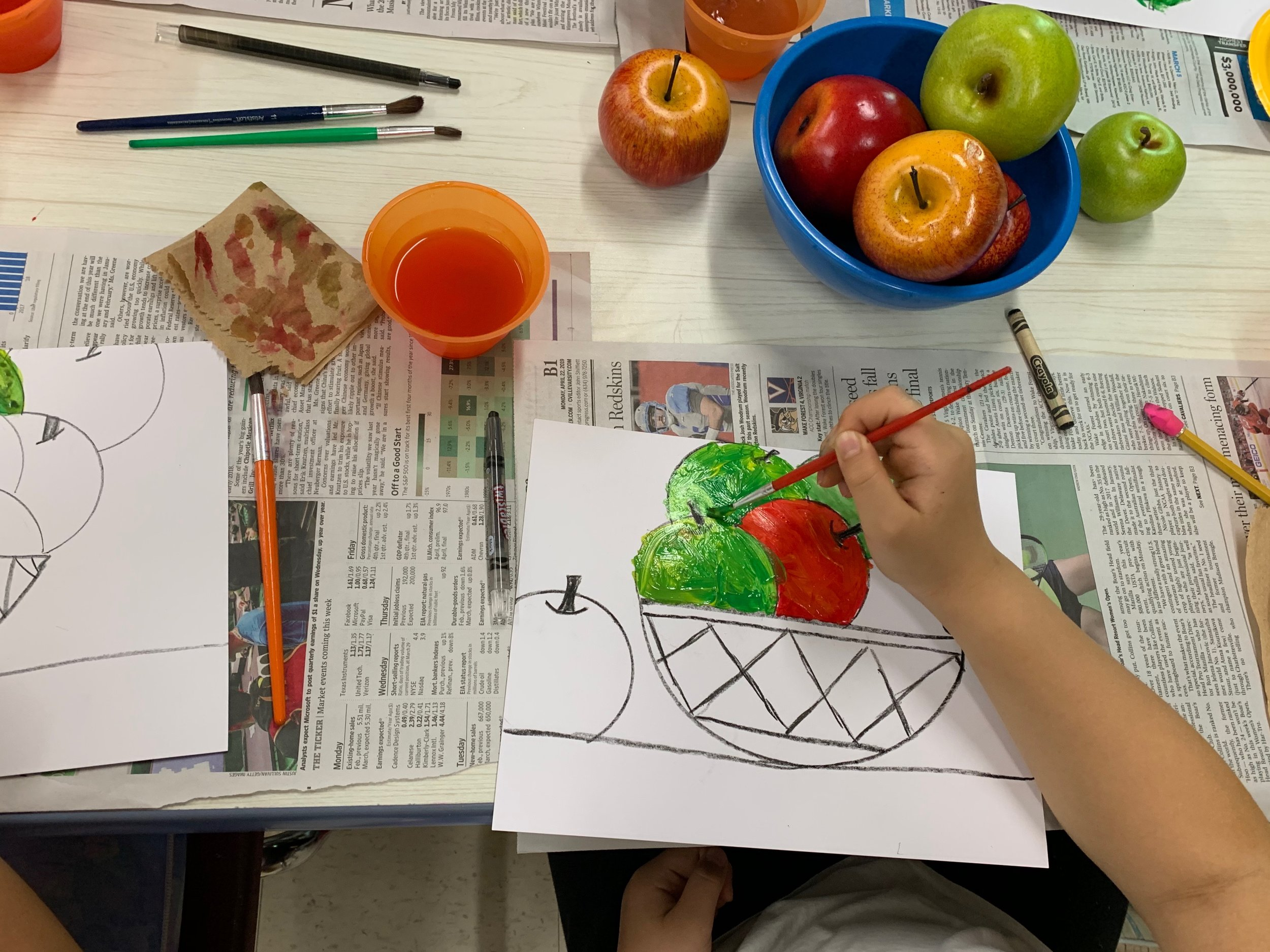 Nature morte from Paul Cezanne (Art program) at Hollymead Elementary, Spring 2019