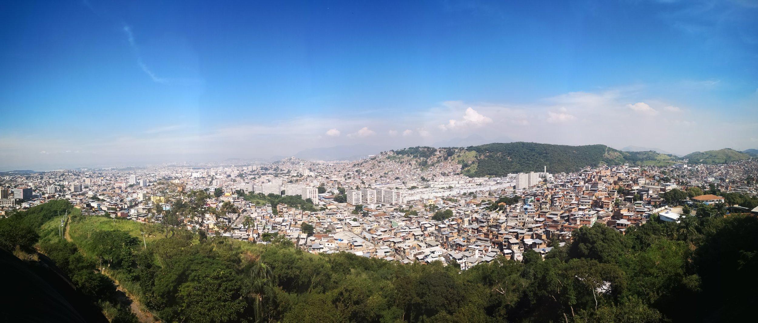 Overlooking Complexo de Penha & Complexo do Alemao from Basilica da Penha.