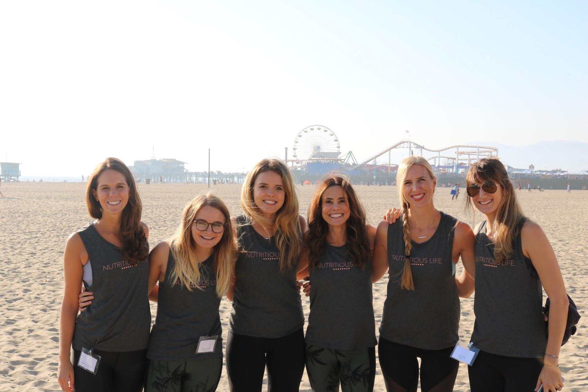 The Nutritious Life Team on the beach in Santa Monica!