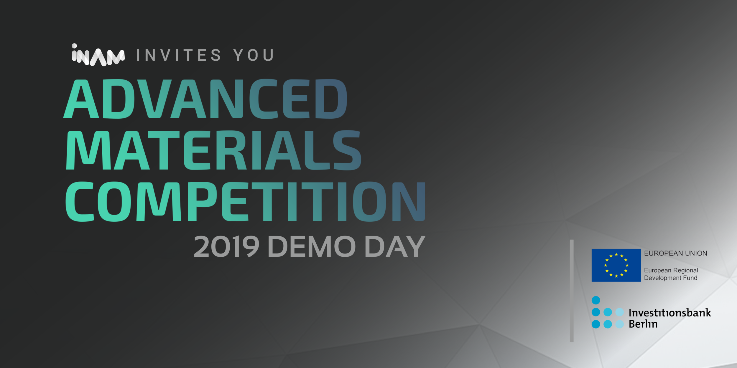 2019 ADMACOM DEMO DAY - Join us to hear pitches from 11 exciting startups in materials science. The teams come from all over the world and the Demo Day marks their graduation from our intense 2 week Accelerator Program, AdMaCom.