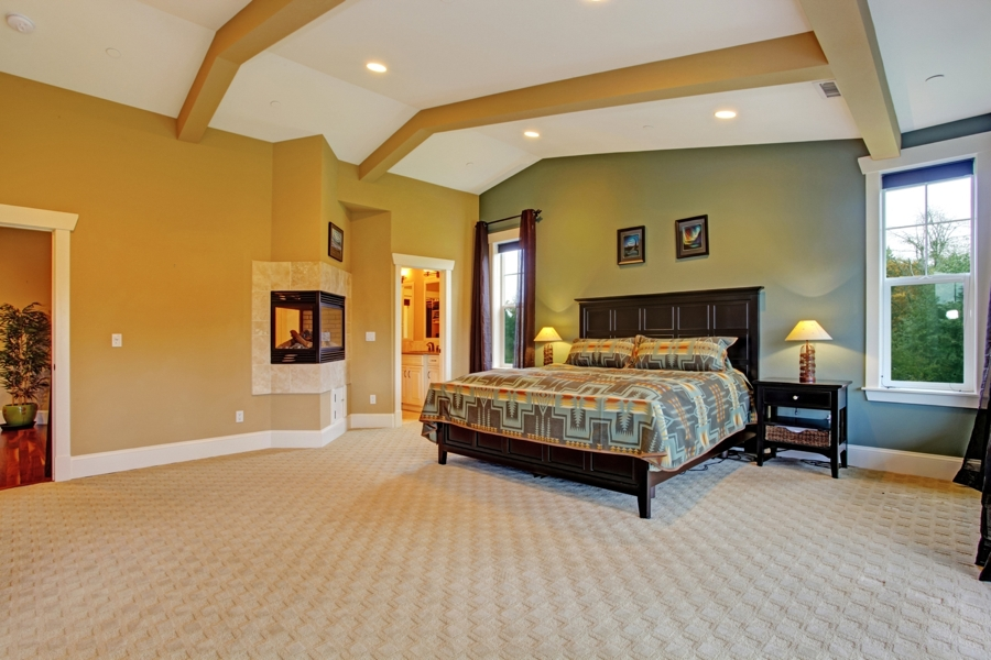 carpet flooring installed in a san diego bedroom