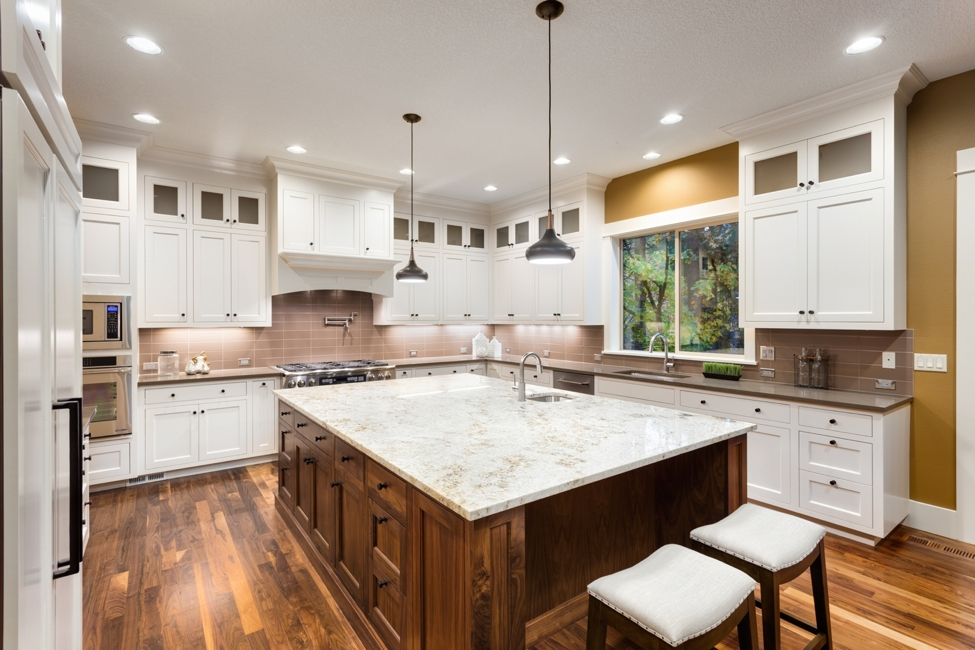 beautiful kitchen in san diego with hardwood floors