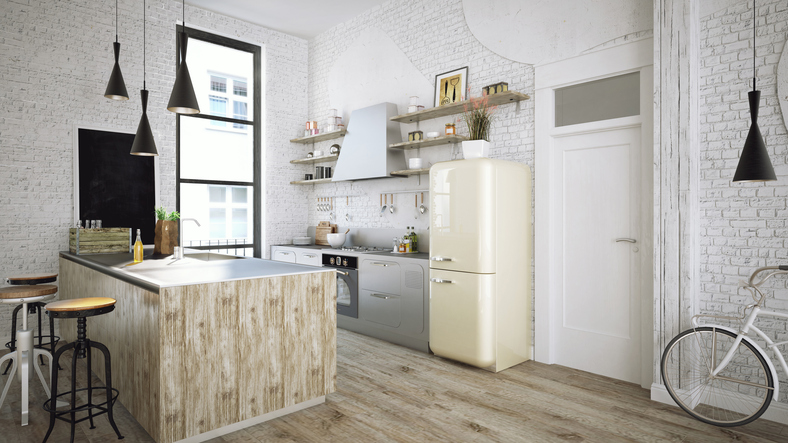 Waterproof Hybrid Flooring installed in kitchen area