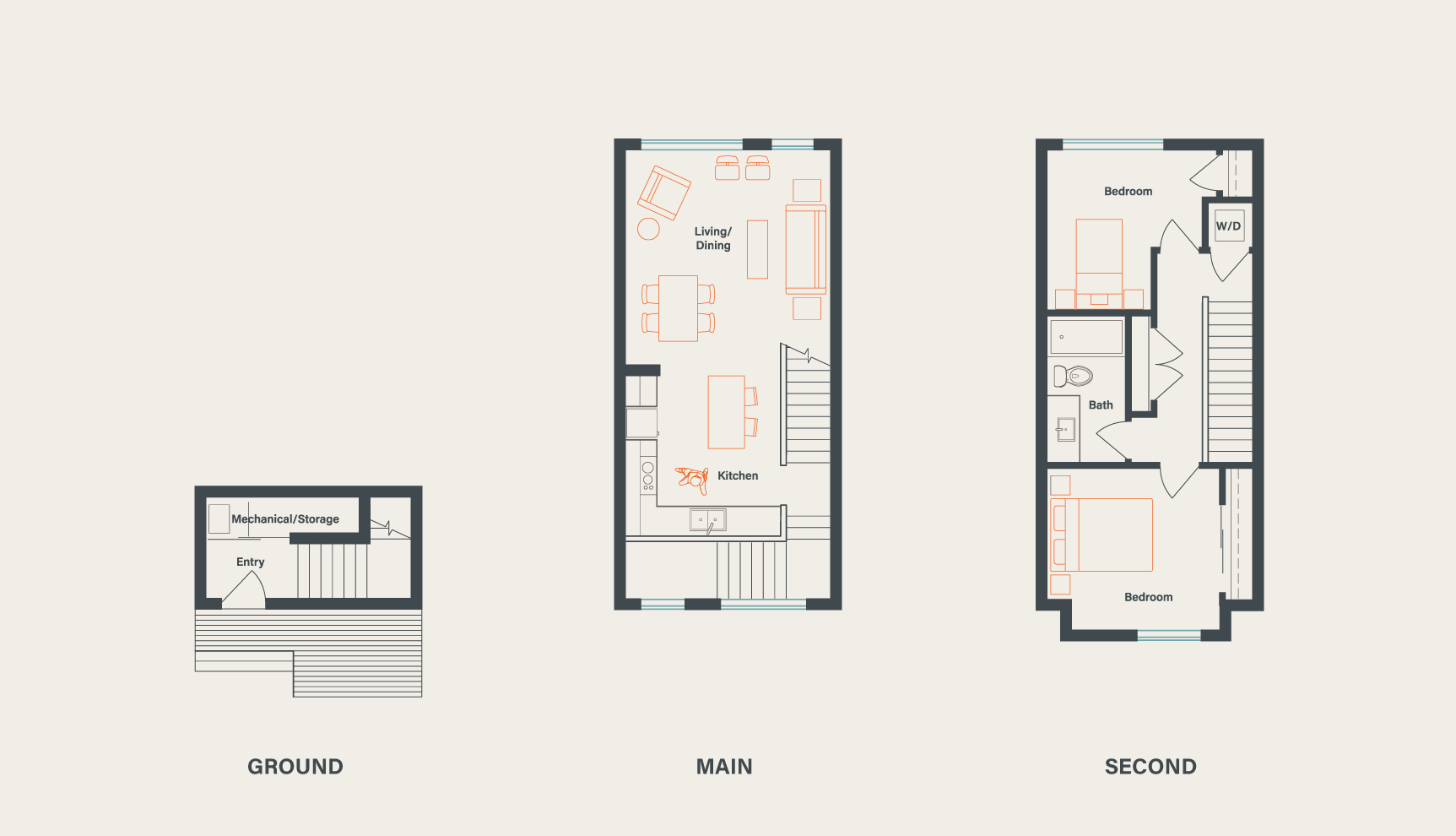 Click to enlarge floorplans