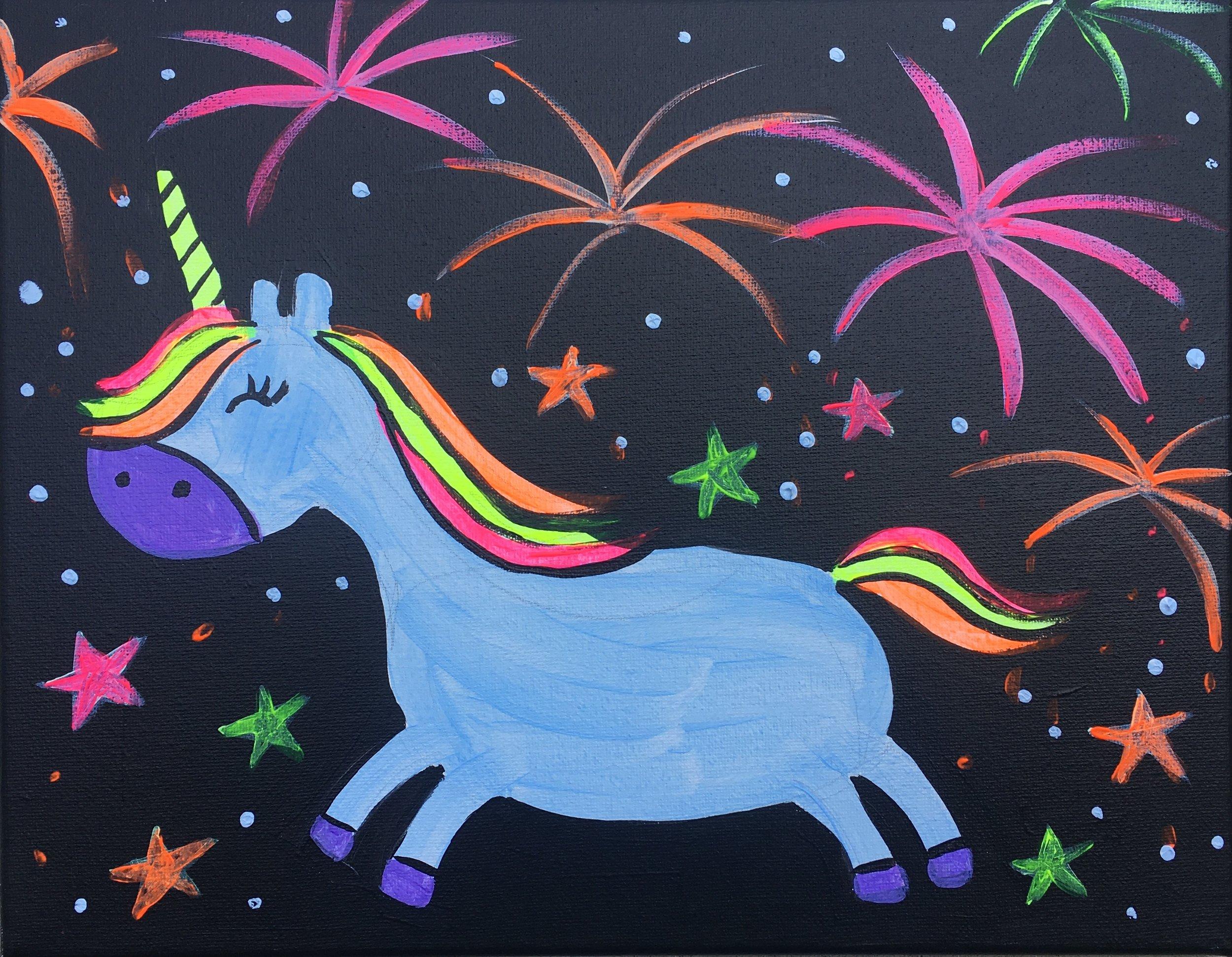 Unicorn & Fireworks!