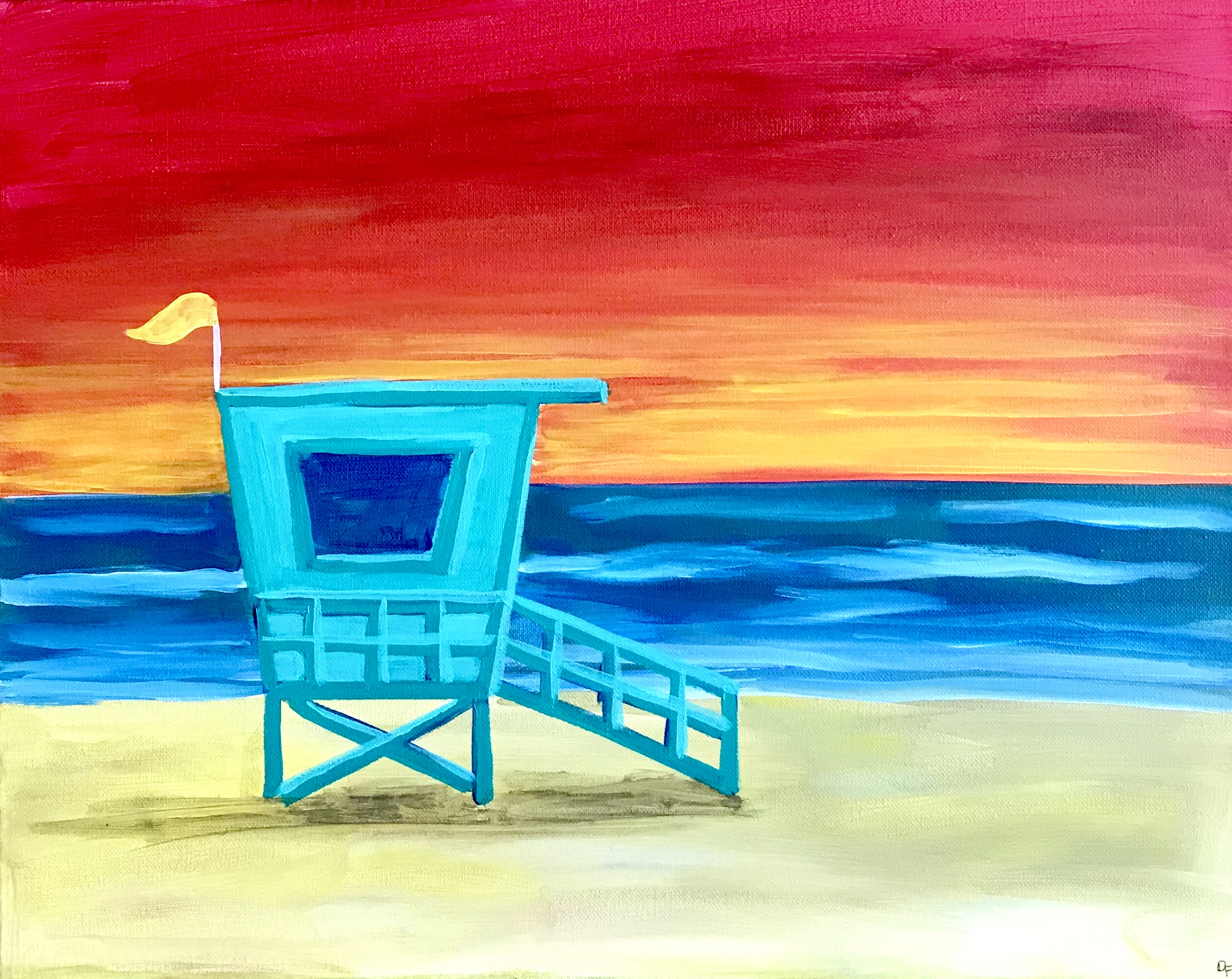 Hermosa Beach at Sunset