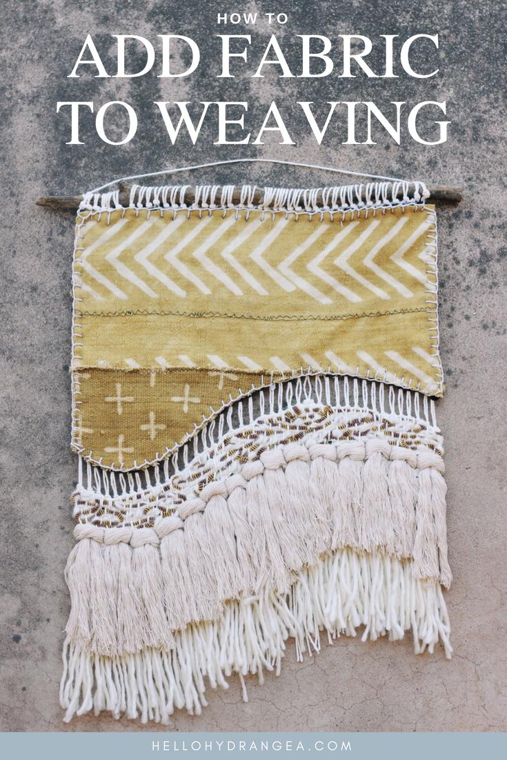hello hydrangea add fabric weaving tutorial1