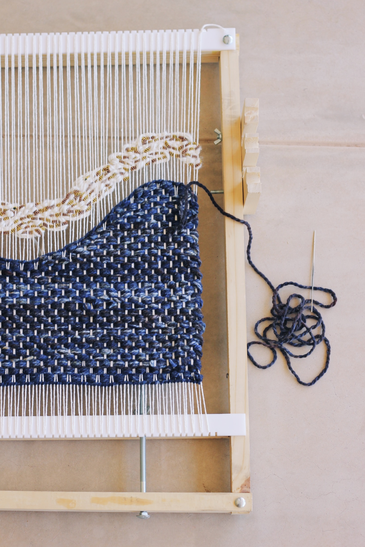 hello hydrangea add fabric weaving tutorial