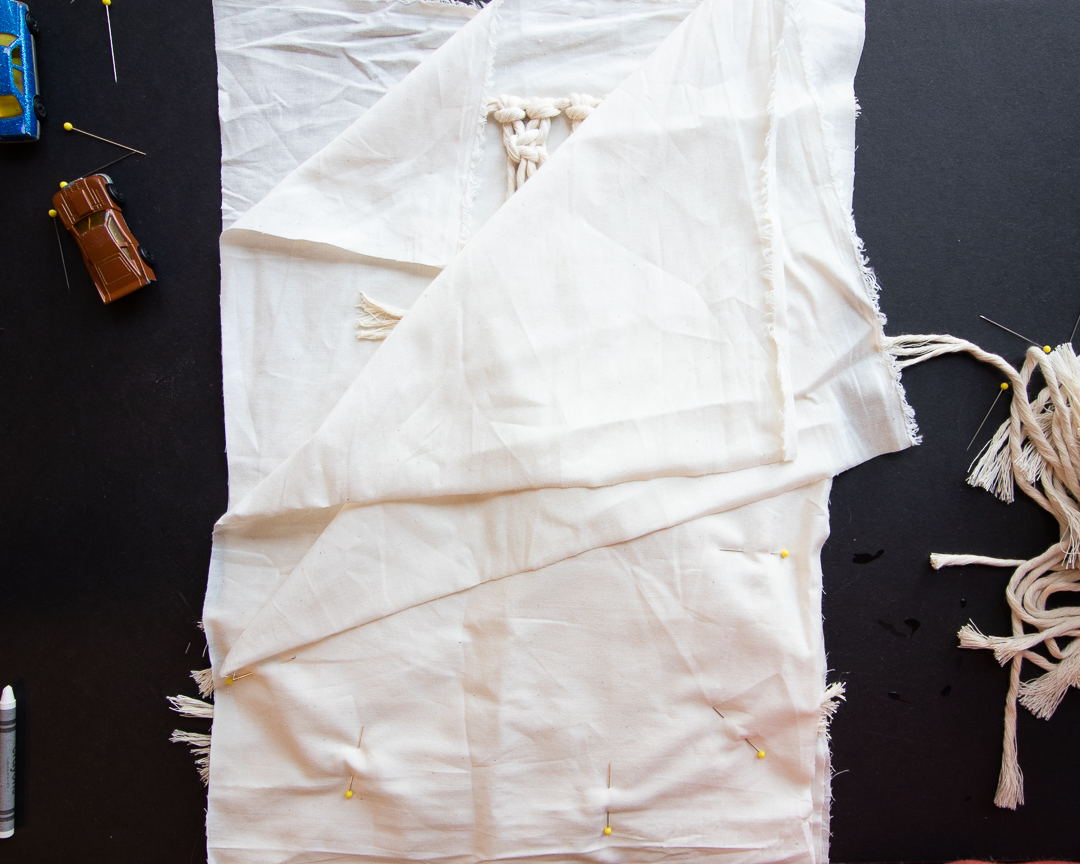 4. Add Fabric and Pins