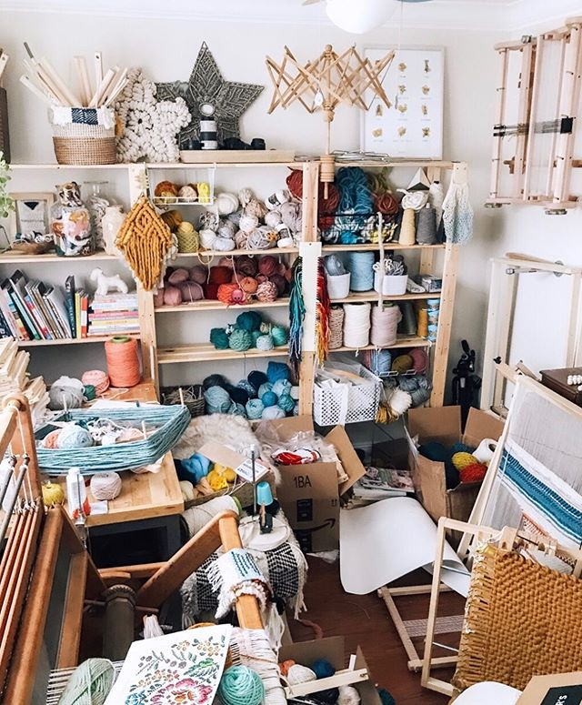 To do list today: clean this studio.  Maybe. 😂  But no, for real, this place has got to be organized because I have some big packages arriving this week and they need a place to go!  Since I'll be staring at this room today, I wanted to invite you to do the same! Who's ready for another round of I Spy?? (It won't be as fun once this place is cleaned up!) I've hidden 5 emojis in this chaos. 🥖���🧀 Comment below when you find them, and don't spoil it for others by sharing the locations!  XO Lindsey . . . . . . . #instacrochet #makerstrong #maker #crochet #crochetersofinstagram #thehooknookers #communityovercompetition #crochetlove #handmade #yarn #crochetersofig #crochetgirlgang #knittersofinstagram #craftsposure #yarnspirations #handsandhustle #diy #etsy #etsysellersofinstagram #yarnaddict #craftastherapy #crocheteveryday #makersgonnamake #makersmovement #ourmakerlife #bhooked #crochetaddict #etsyseller #handmadeisbetter #yarnlove