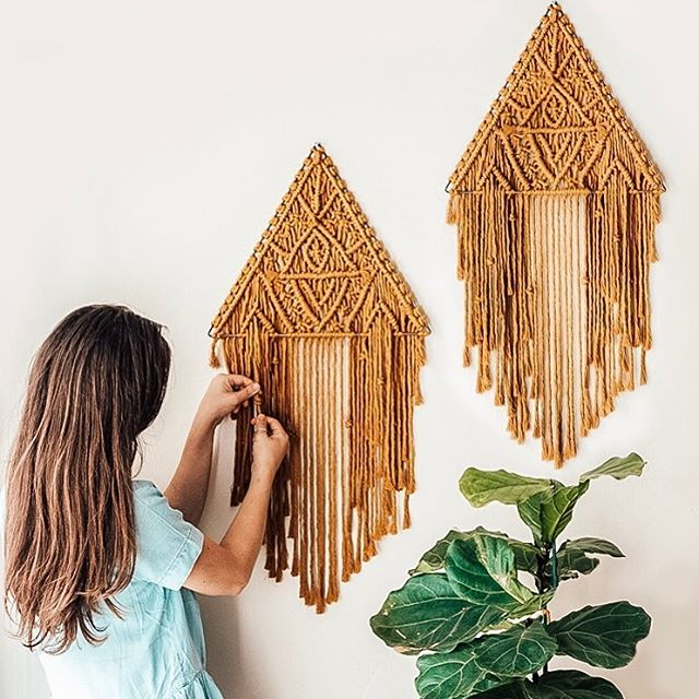 I was planning on sharing this post as an announcement that my macrame triangle kits were back in stock! In 8 new colors! As a two pack! I had an entire photo shoot to share how to style them and the different styles. But.... I sent an early access email to my newsletter this morning and they almost all sold out in 2 hours! Head to the link in my profile - there are currently only 3 left 😱 So instead of explaining why I love these kits and why I am excited to offer them, I can only say THANK YOU! Your support means everything to me! I love imagining you creating these projects in your homes. Join my newsletter so you get early access on future kits... I have plans for more before the year is done and I don't want you to miss out! XO Lindsey . . . . . . . #art #wallhanging #etsy #bohohome #modernmacrame #vintage #macramemovement #makersgonnamake #hippie #fiberart #design #wallart #fashion #bohemian #handmade #bohodecor #decor #macrame #interiordesign #bohochic #macramewallhanging #love #boho #bohemianstyle #macramelove #walldecor #bohostyle #bohemiandecor #homedecor #jewelry