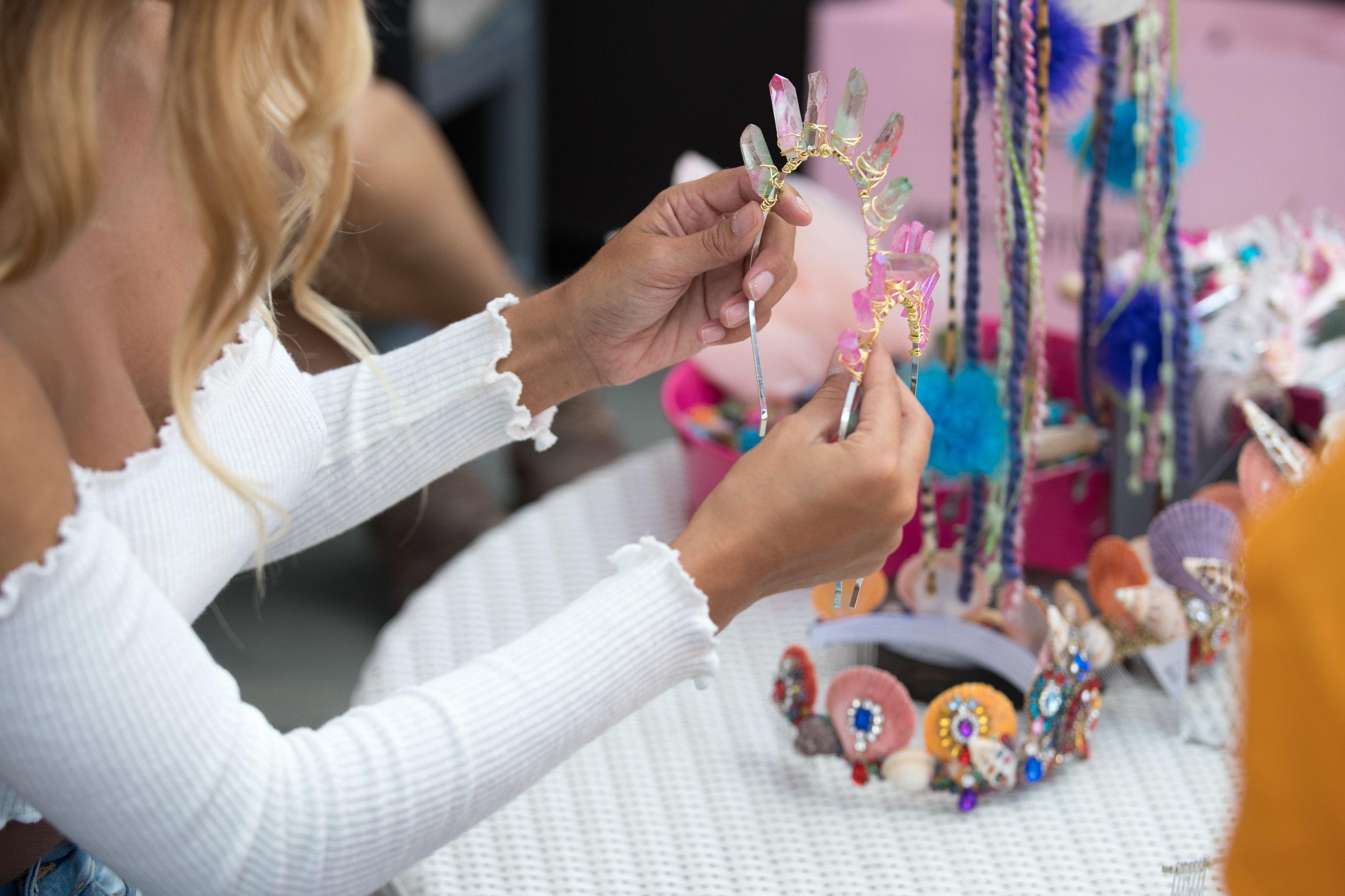 Peek Inside Celebrity Pre-Coachella Gifting Suite gorgeous crystal headbands.jpg