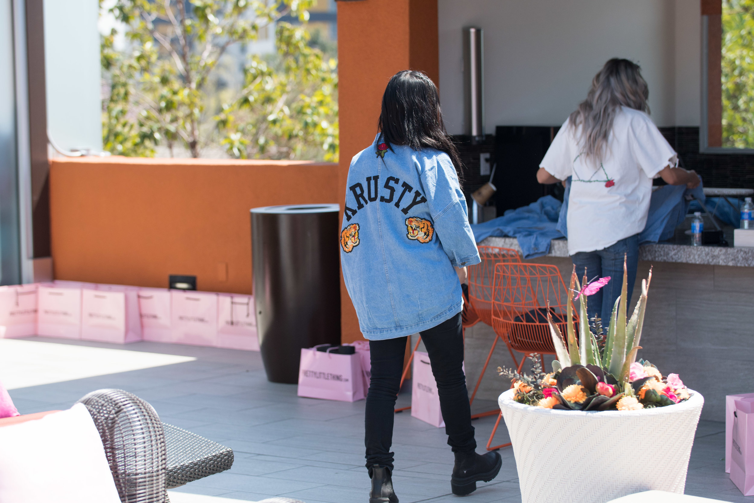 Peek Inside Celebrity Pre-Coachella Gifting Suite custom denim jacket design.jpg