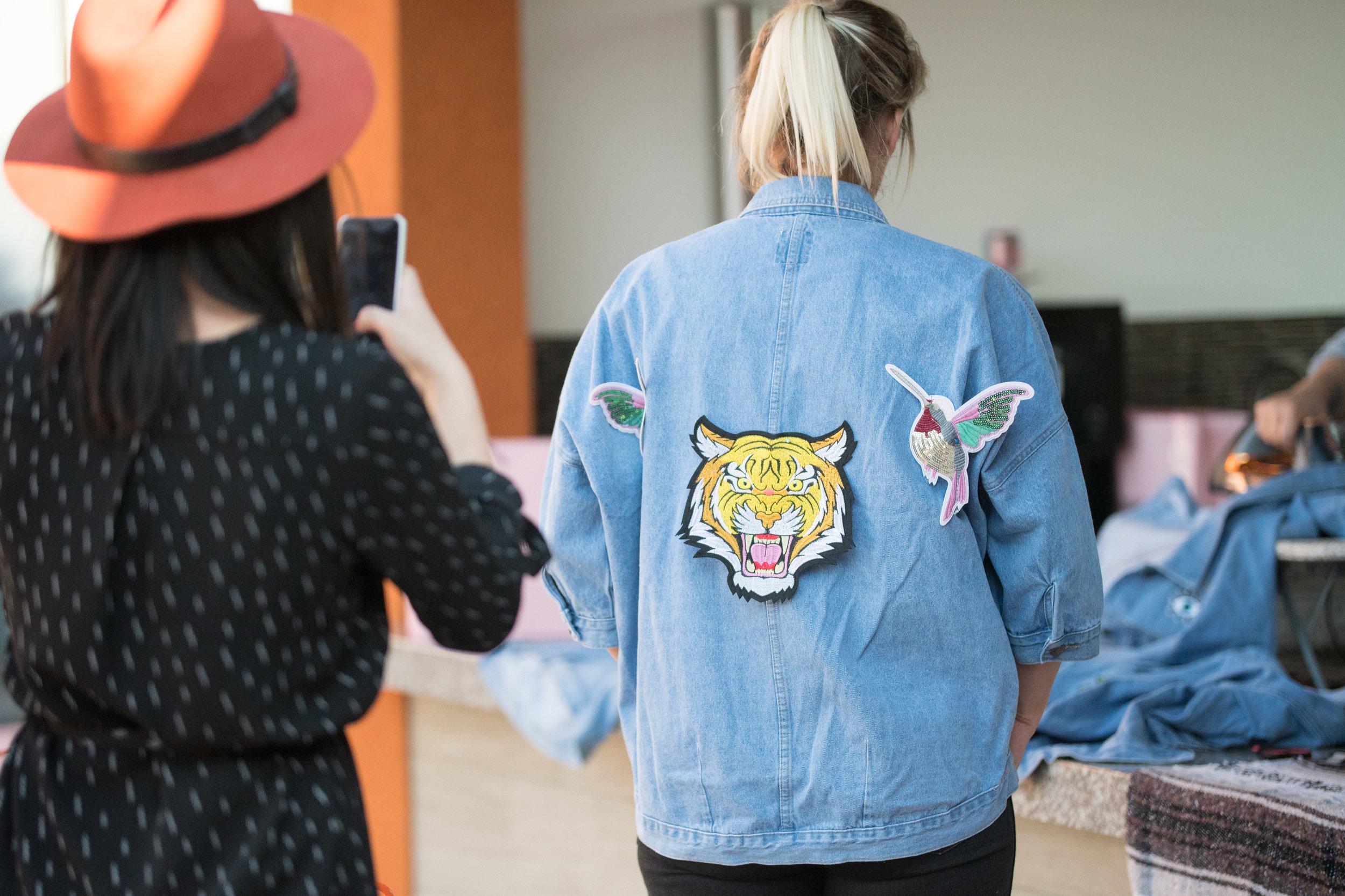 Peek Inside Celebrity Pre-Coachella Gifting Suite custom denim jacket.jpg