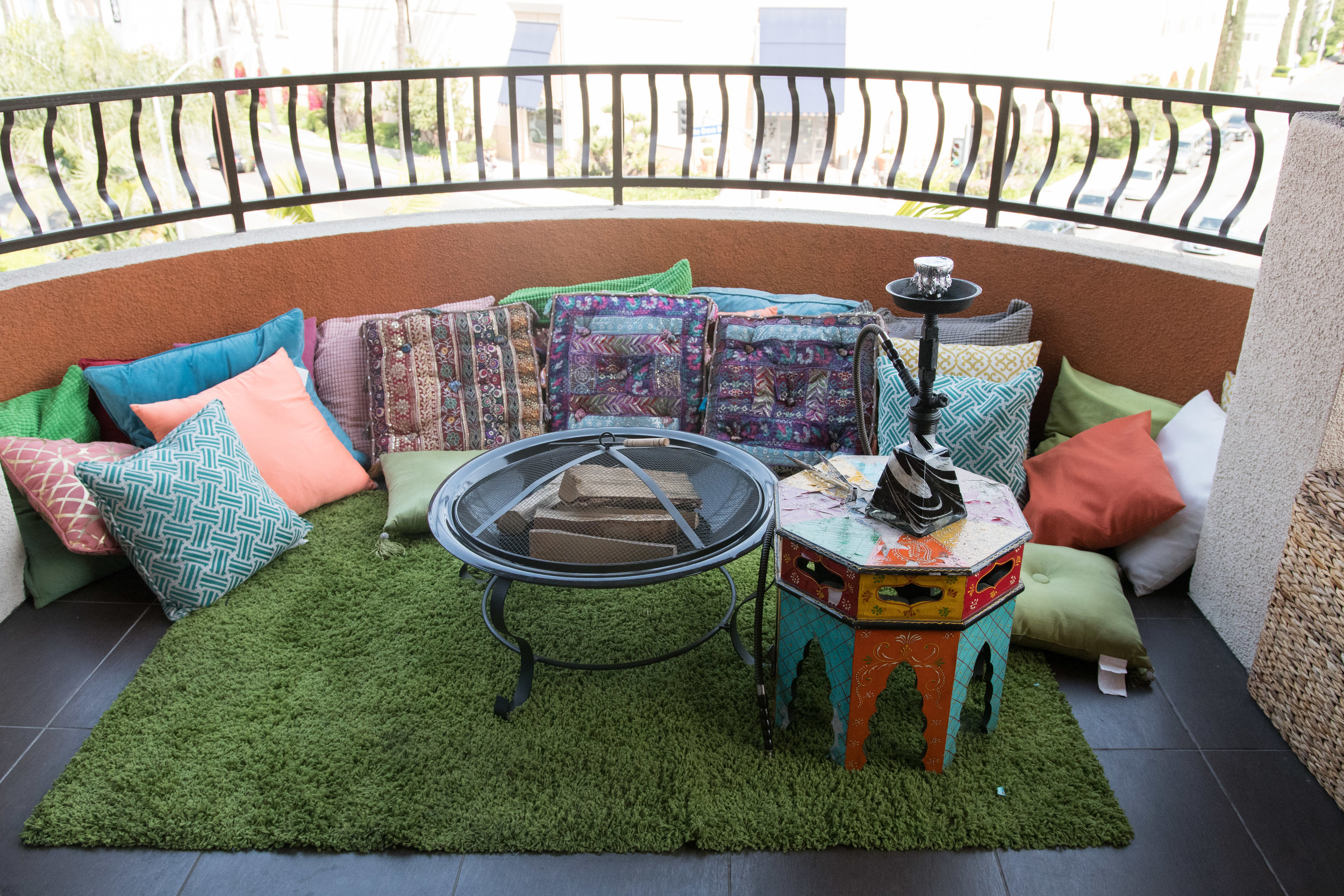 Peek Inside Celebrity Pre-Coachella Gifting Suite boho pillow lounge.jpg