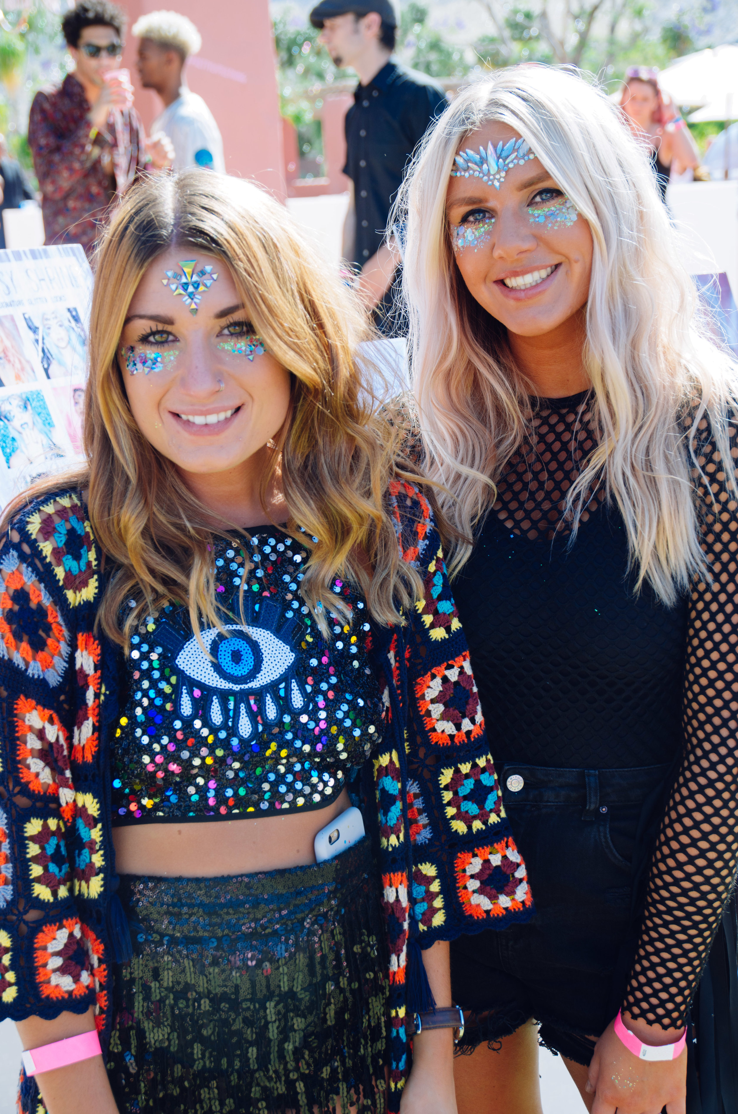Ultimate Hollywood Coachella Poolside Party the gypsy shrine jewel glitter faces.jpg