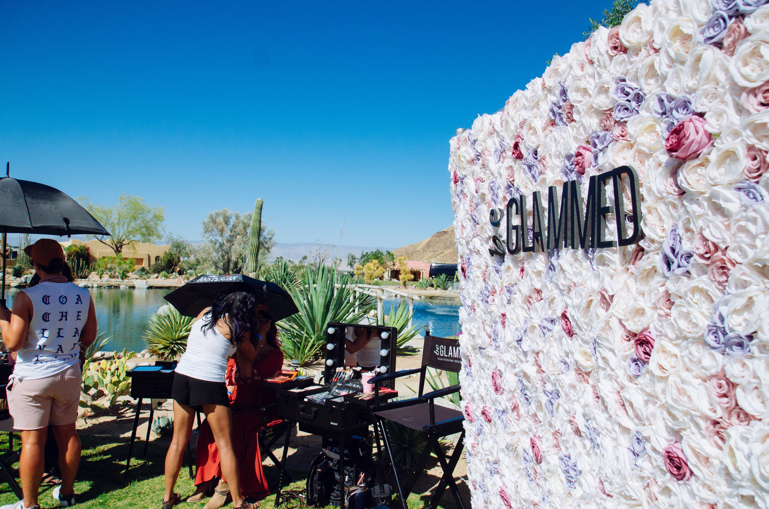 Ultimate Hollywood Coachella Poolside Party beGlammed rose wall.jpg