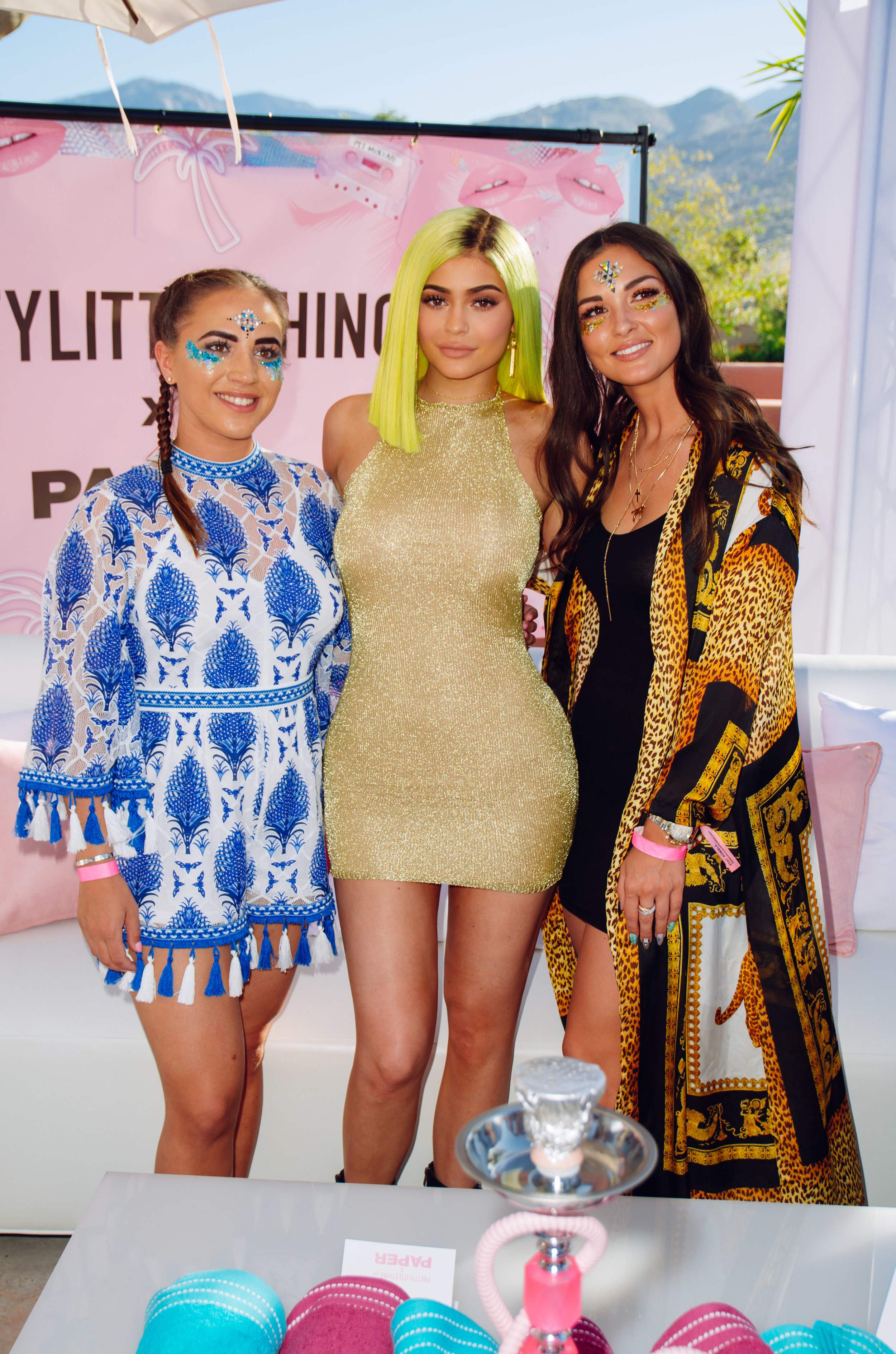 Ultimate Hollywood Coachella Poolside Party kylie jenner and guests.jpg