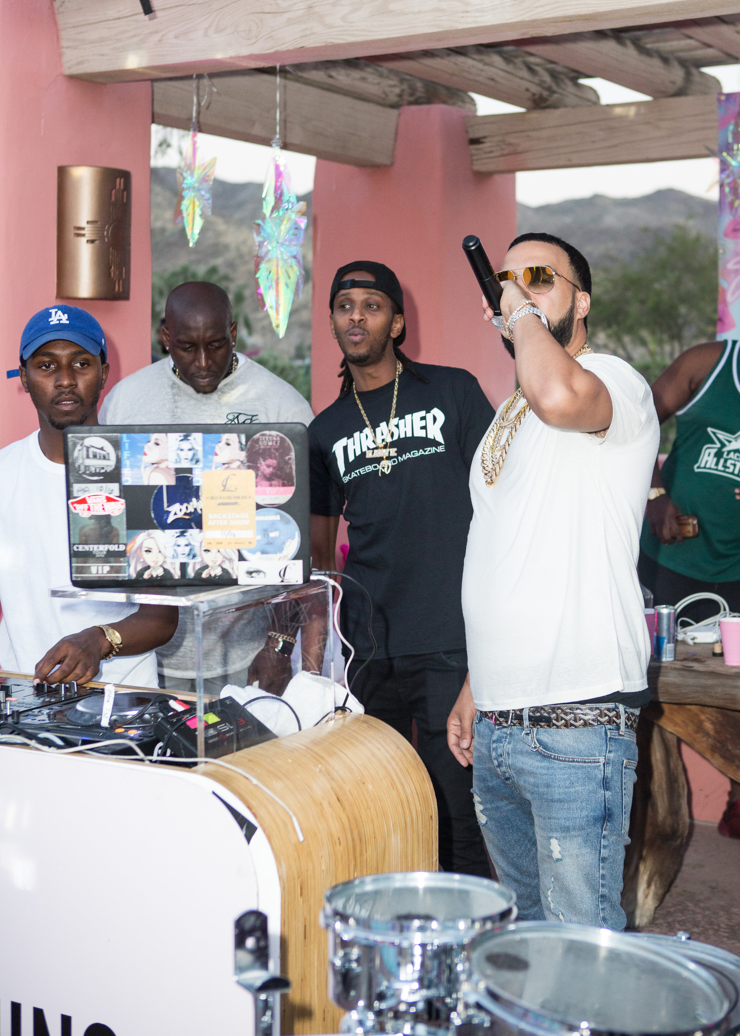 Ultimate Hollywood Coachella Poolside Party french montana dj booth.jpg