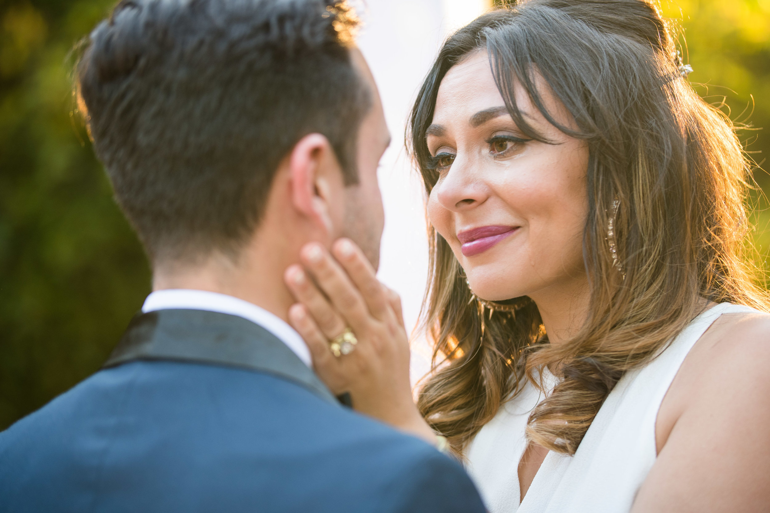 Vibrant Fiesta Backyard Wedding Reception bride emotional during first dance.jpg