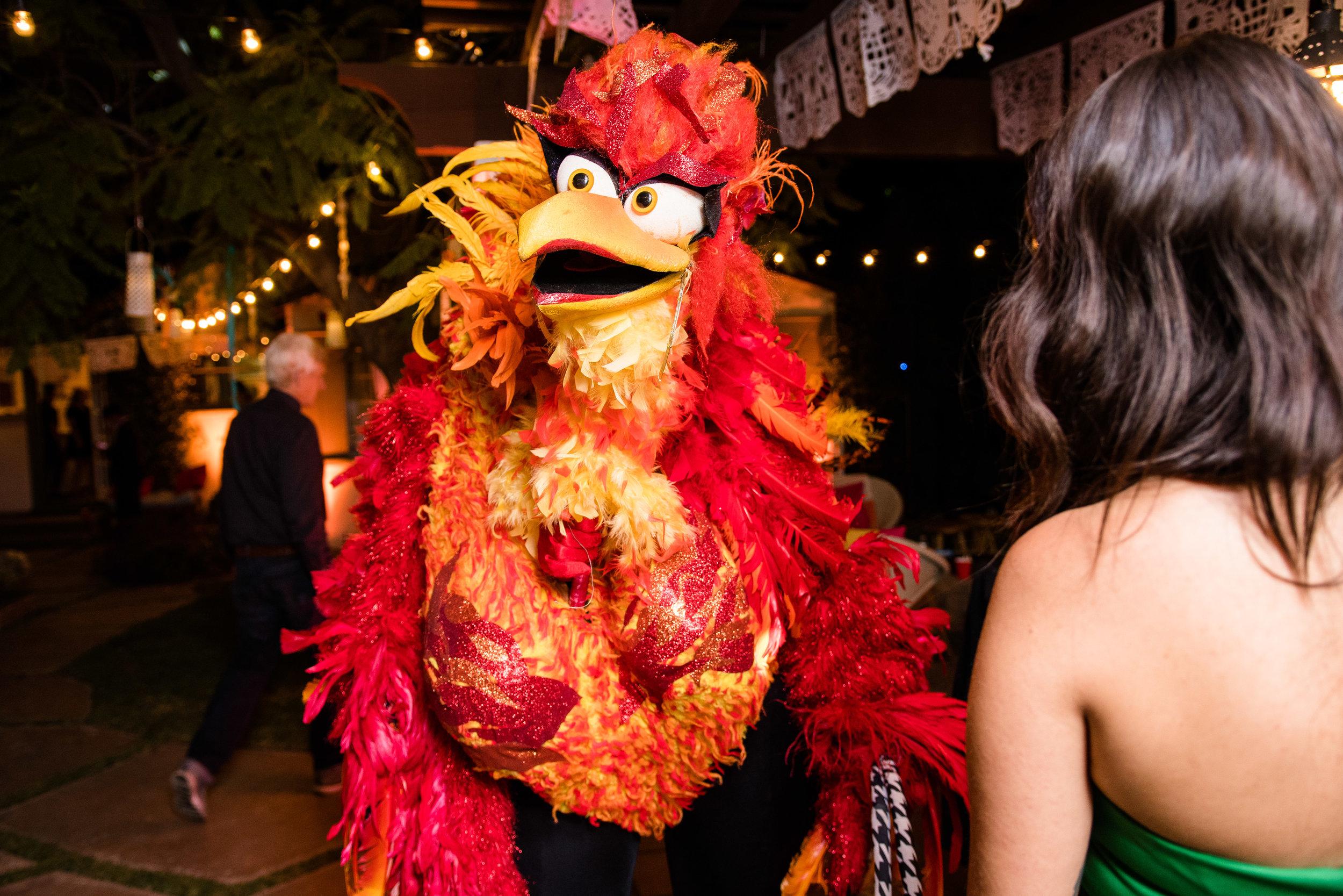 Vibrant Fiesta Backyard Wedding Reception miss fuego arrives.jpg