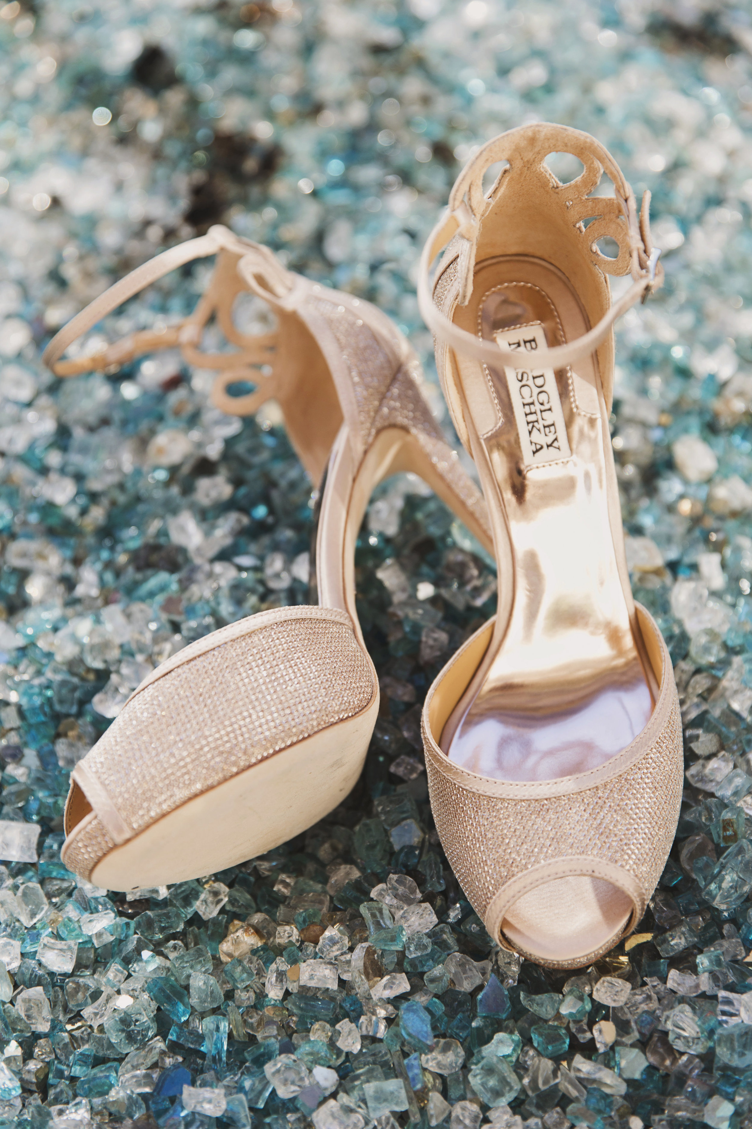 Beautiful Traditional Modern Chinese Wedding cream colored Badgley Mischa shoes.jpg