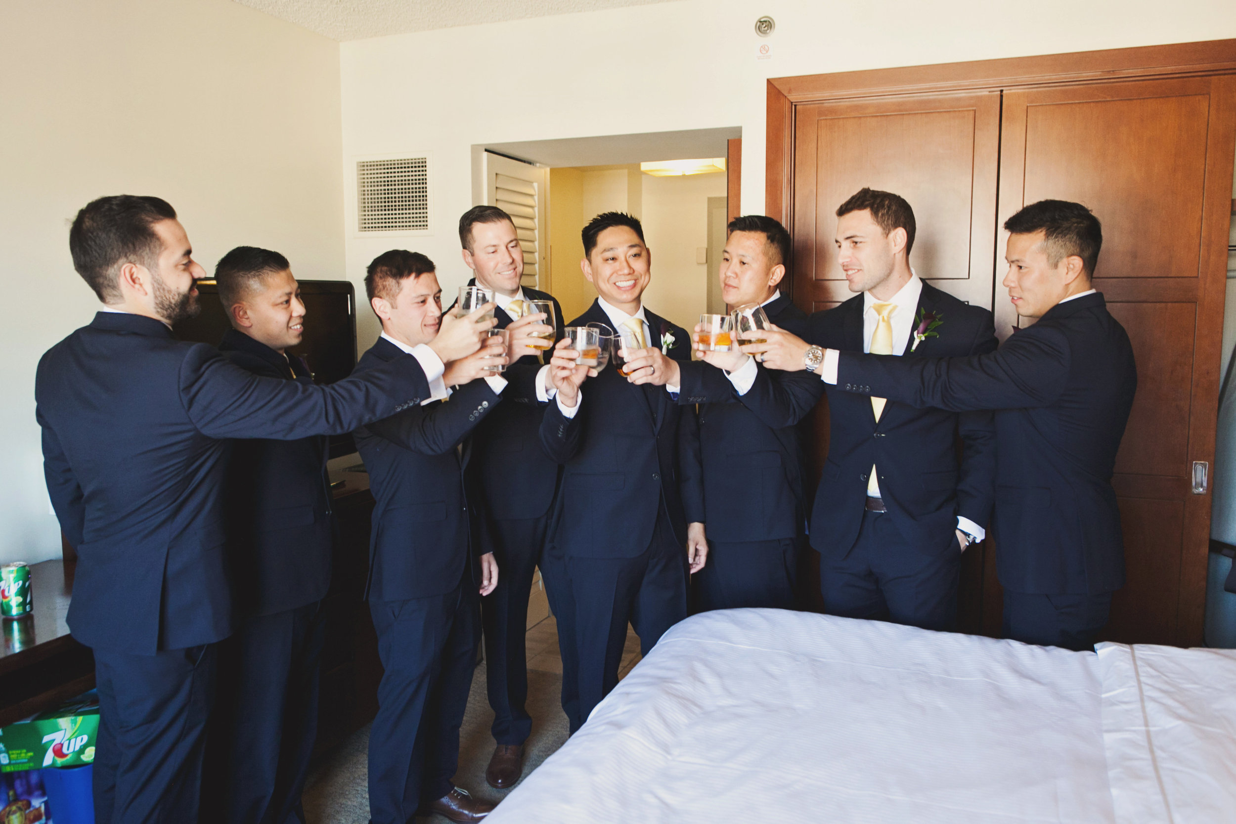Beautiful Traditional Modern Chinese Wedding cheers to the groom.jpg