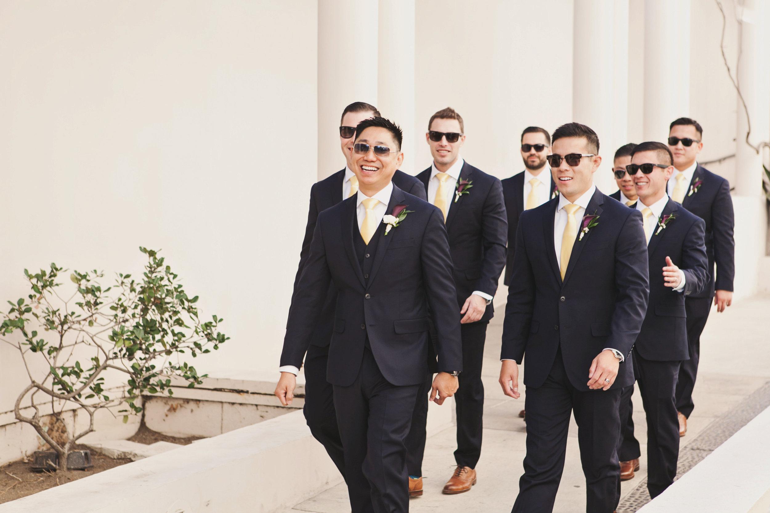 Beautiful Traditional Modern Chinese Wedding very cool groom and groomsmen.jpg