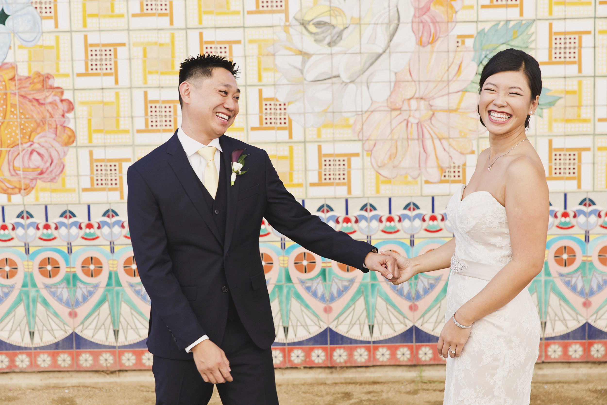 Beautiful Traditional Modern Chinese Wedding bride and groom first look.jpg