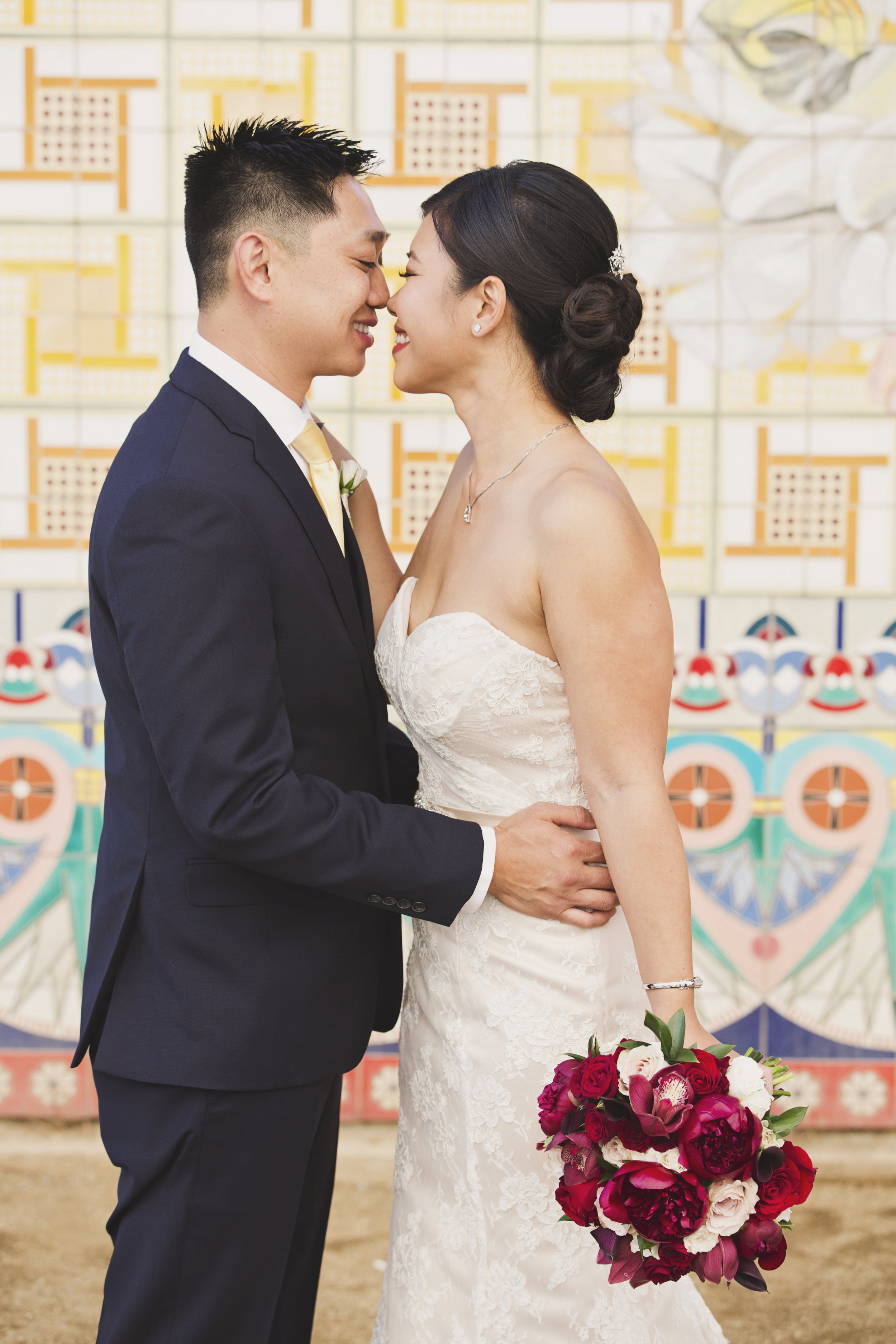 Beautiful Traditional Modern Chinese Wedding sweetr moment after first look.jpg