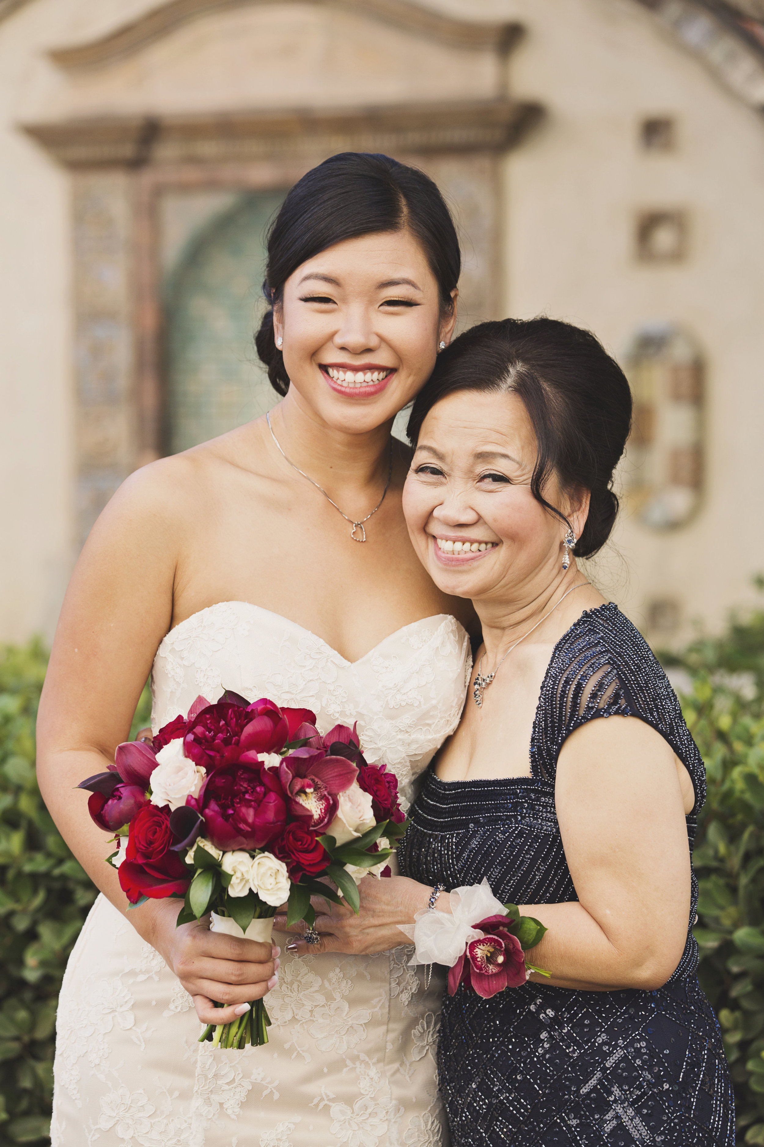 Beautiful Traditional Modern Chinese Wedding bride and mother of the bride.jpg