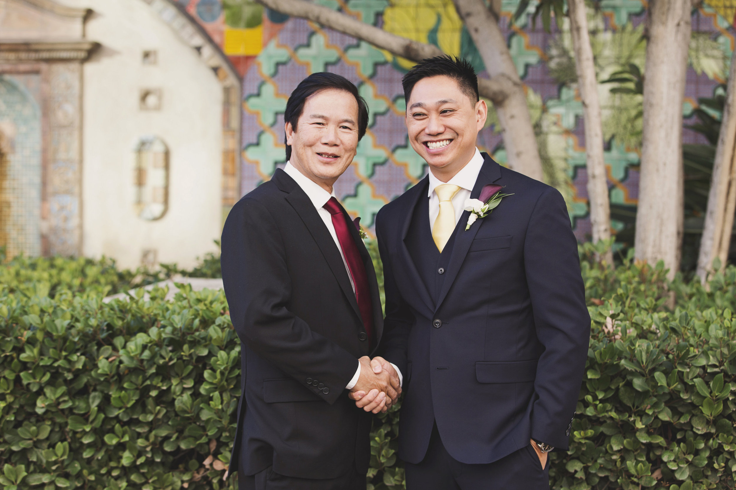 Beautiful Traditional Modern Chinese Wedding groom and his father.jpg