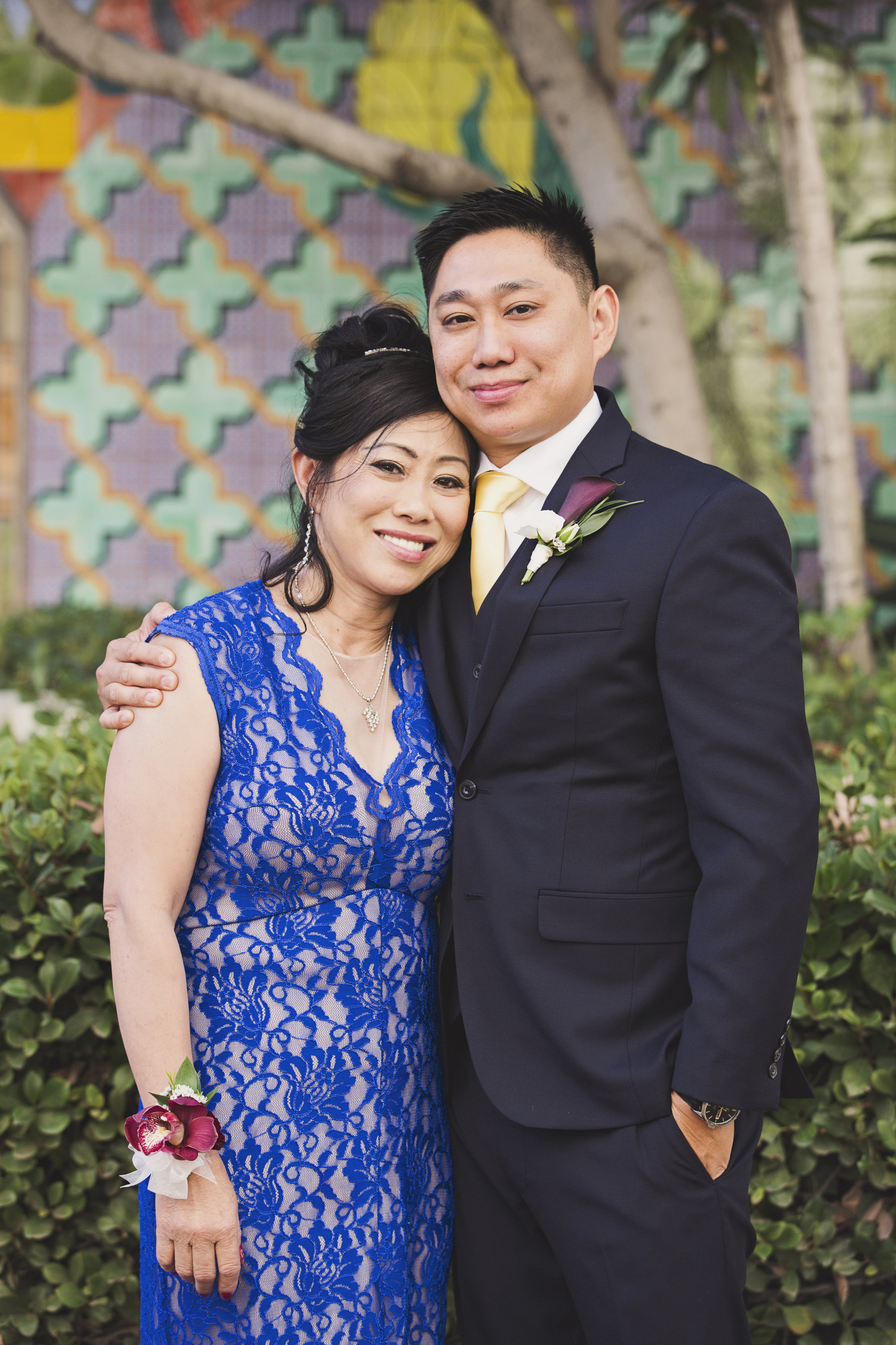Beautiful Traditional Modern Chinese Wedding groom and mother of the groom.jpg