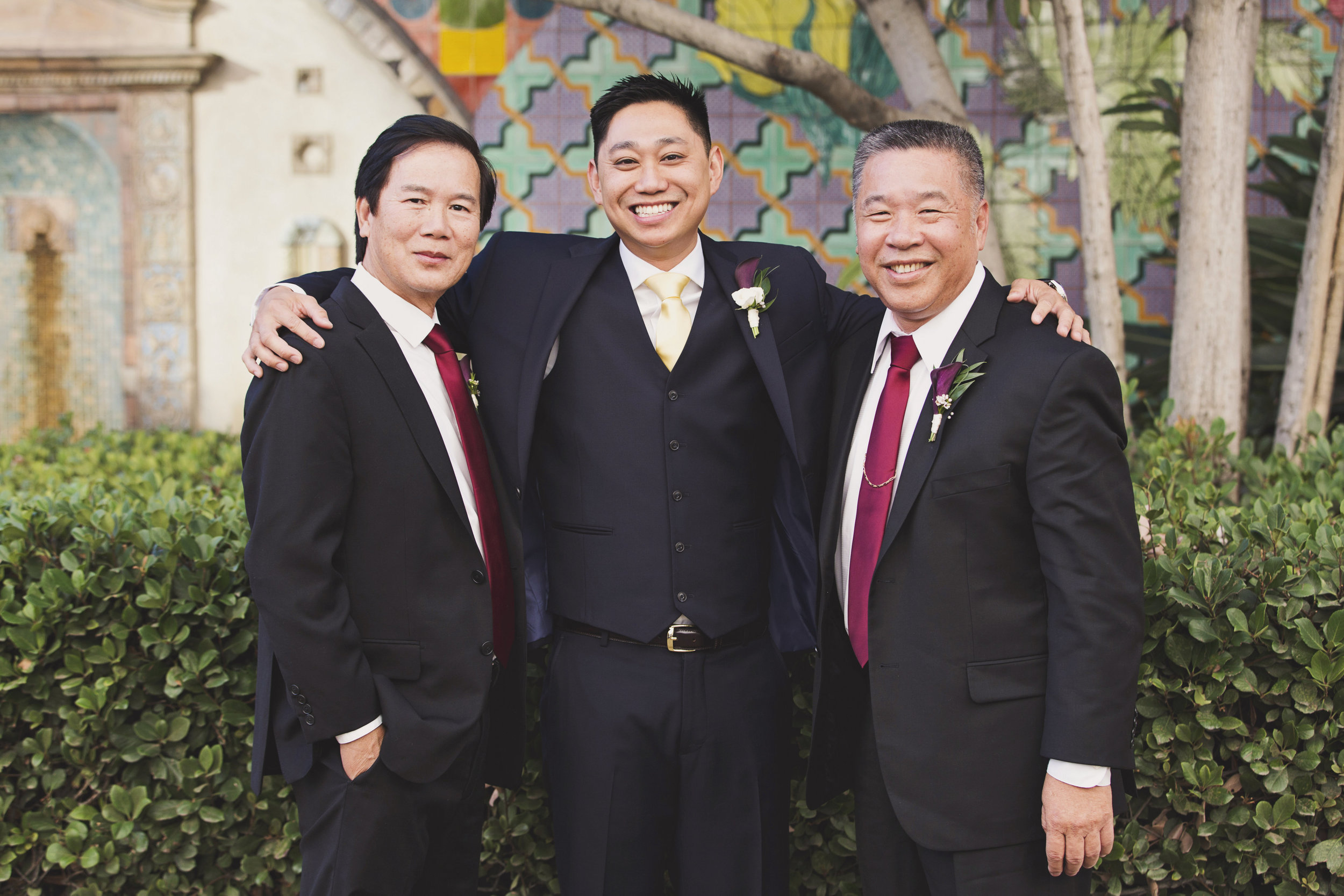 Beautiful Traditional Modern Chinese Wedding groom with the dads.jpg