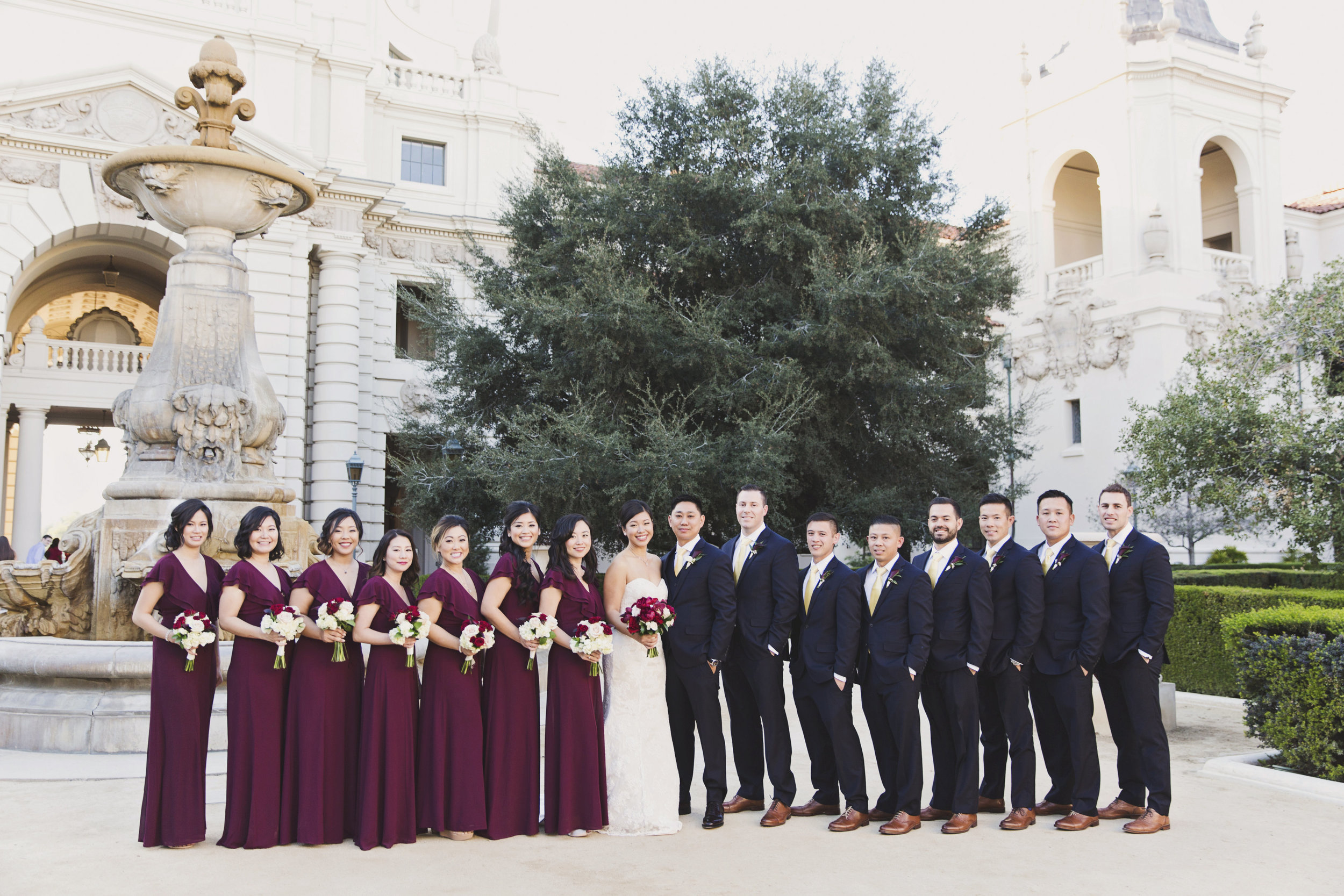 Beautiful Traditional Modern Chinese Wedding bride and groom with bridesmaids and groomsmen.jpg