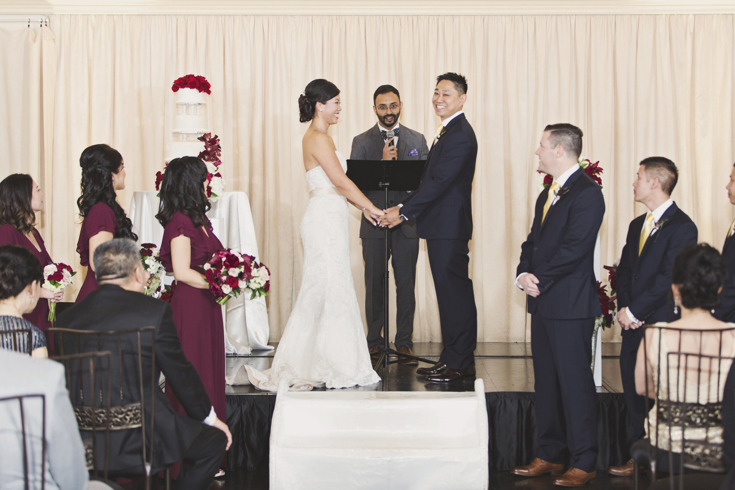Beautiful Traditional Modern Chinese Wedding bride and groom exchanging vows.jpg