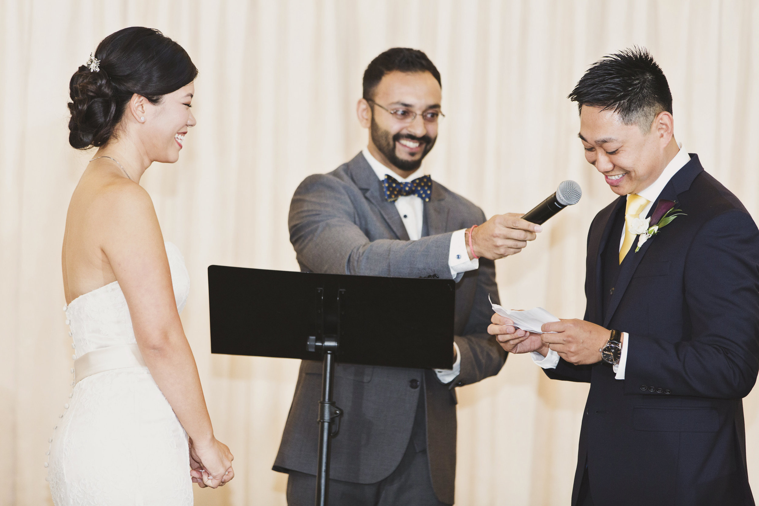 Beautiful Traditional Modern Chinese Wedding groom reading his vows.jpg