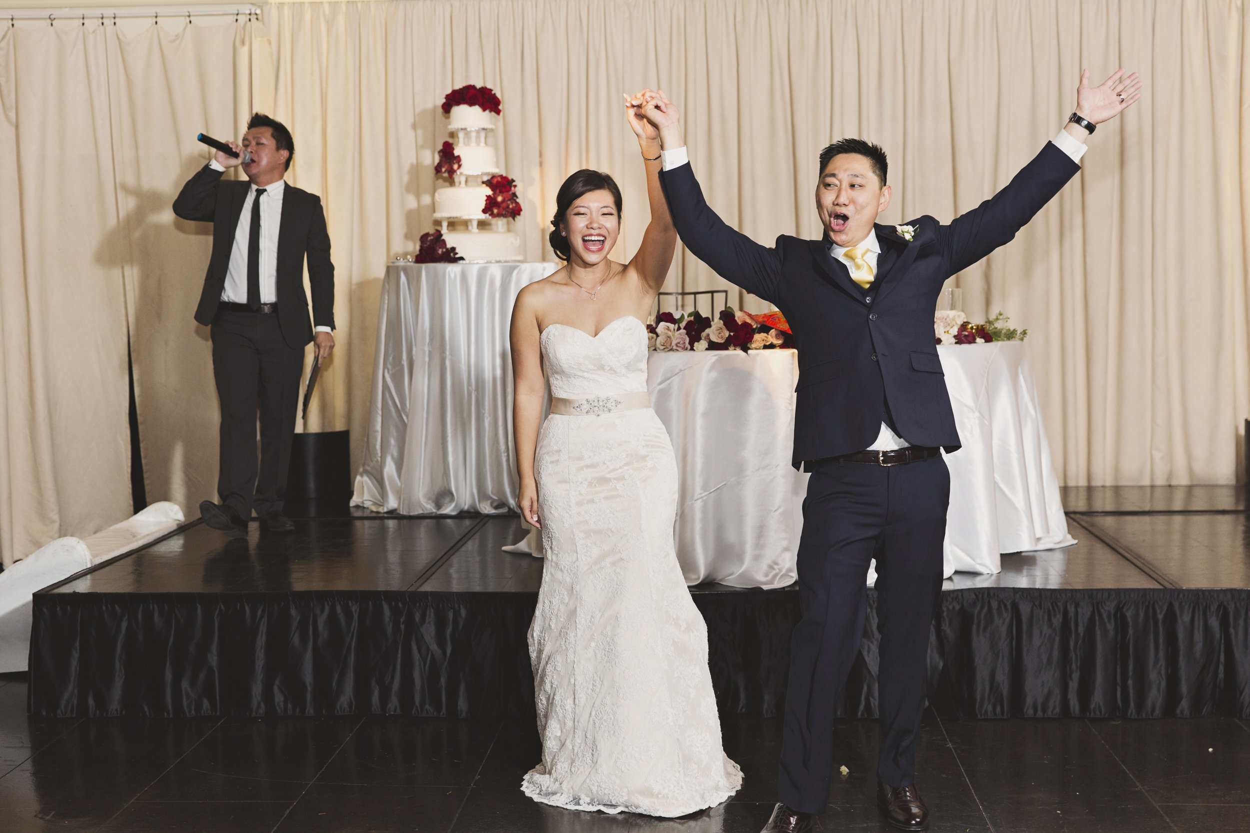Beautiful Traditional Modern Chinese Wedding husband and wife enter the room.jpg