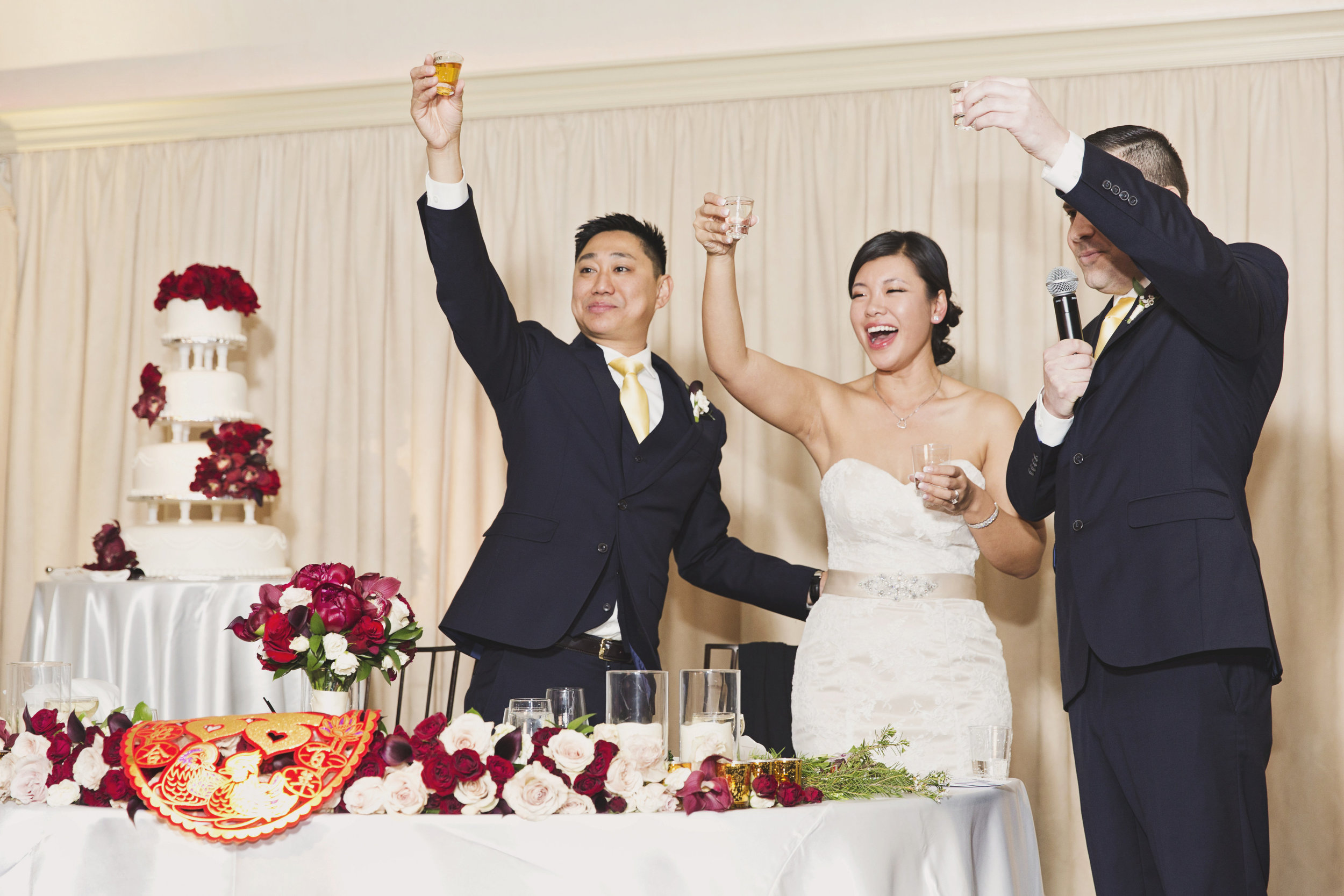 Beautiful Traditional Modern Chinese Wedding cheers to the bride and groom.jpg