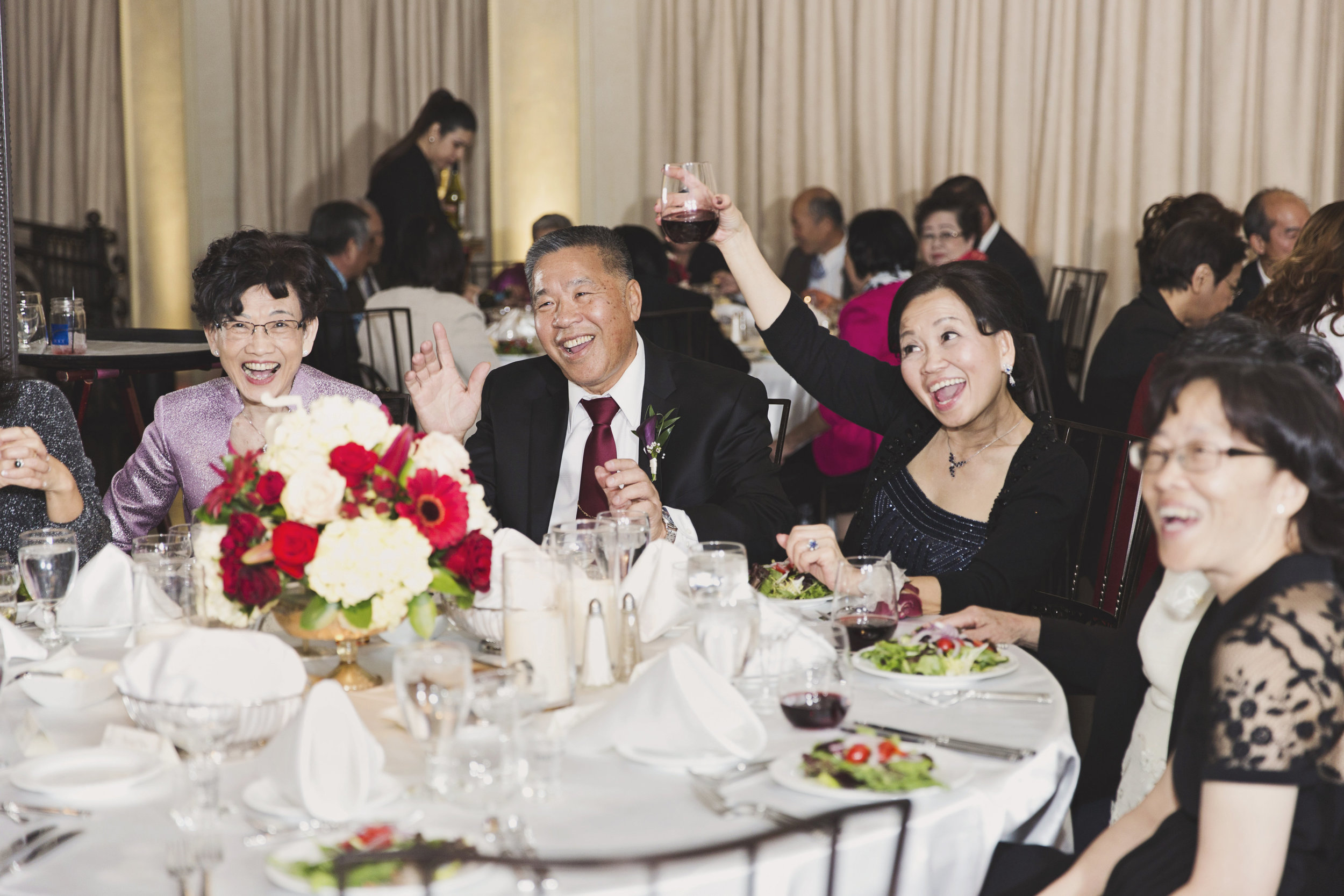 Beautiful Traditional Modern Chinese Wedding mother of the bride toasts to the bride and groom.jpg