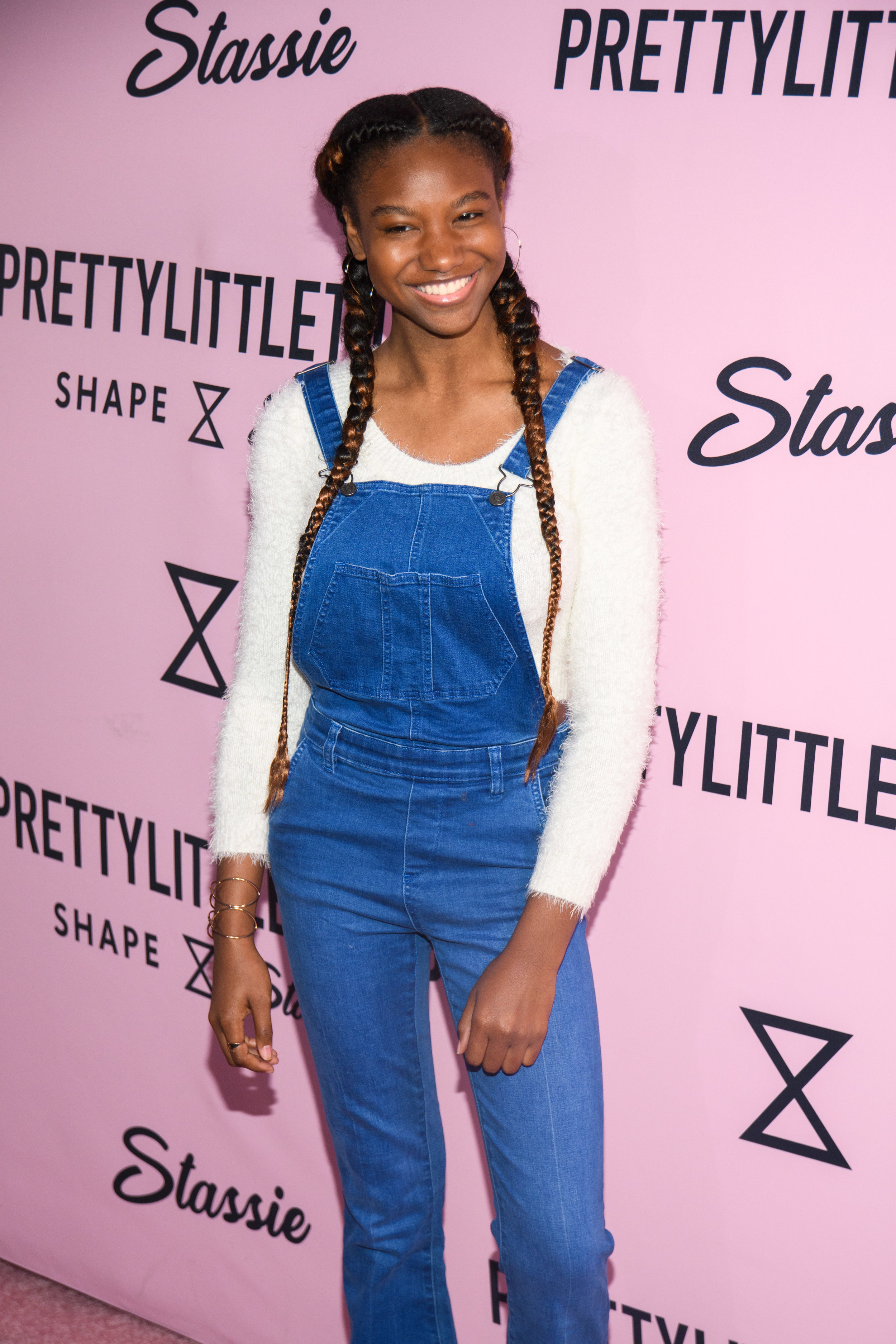 PrettyLittleThing New PLT Shape Collection with Stassie Celebrity Launch Party cute party guest in braids.jpg