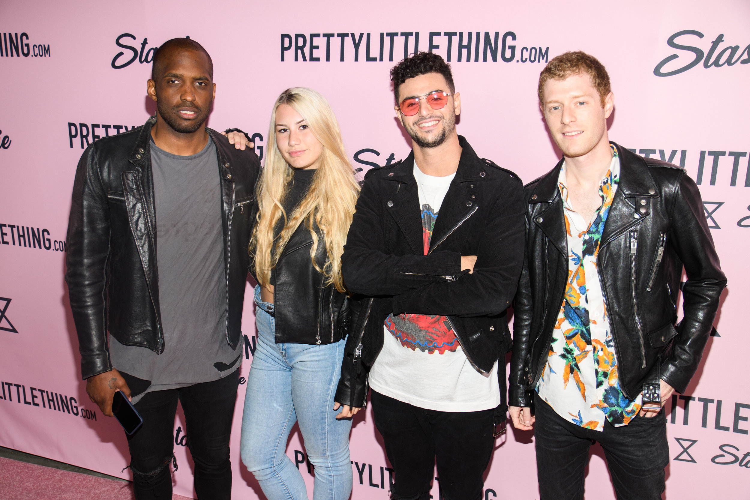 PrettyLittleThing New PLT Shape Collection with Stassie Celebrity Launch Party friends stop to get picture taken on the carpet.jpg