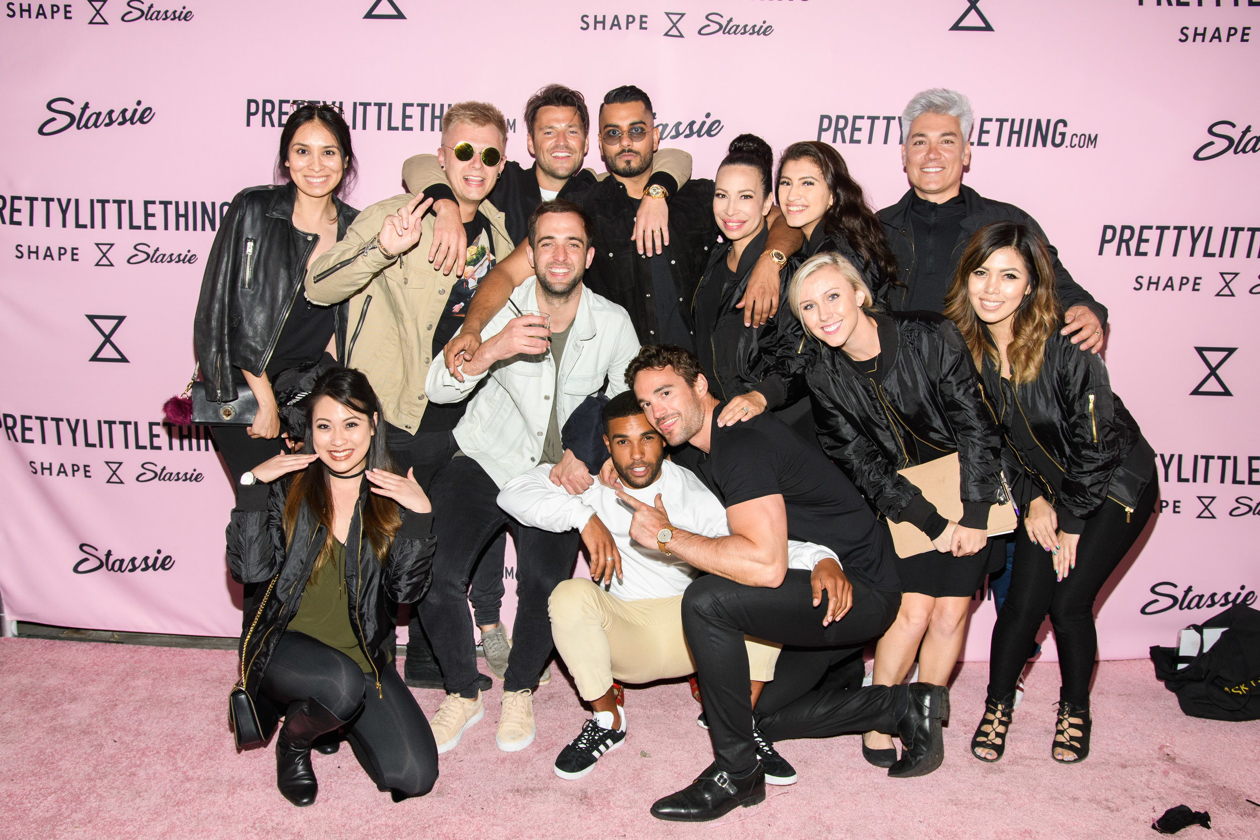 PrettyLittleThing New PLT Shape Collection with Stassie Celebrity Launch Party  WOTP team and Umar Kamani.jpg