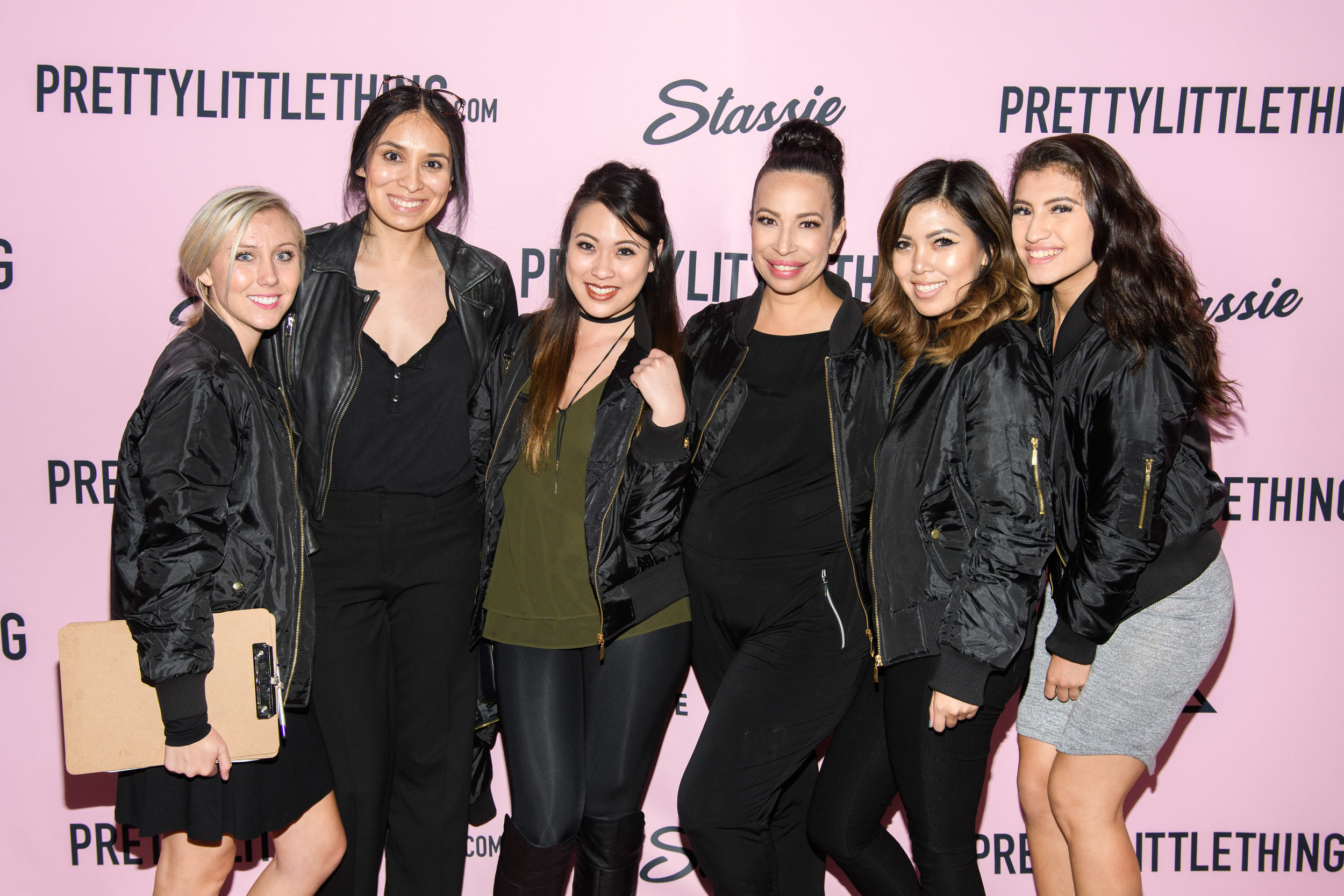 PrettyLittleThing New PLT Shape Collection with Stassie Celebrity Launch Party WOTP Lori poses with team.jpg