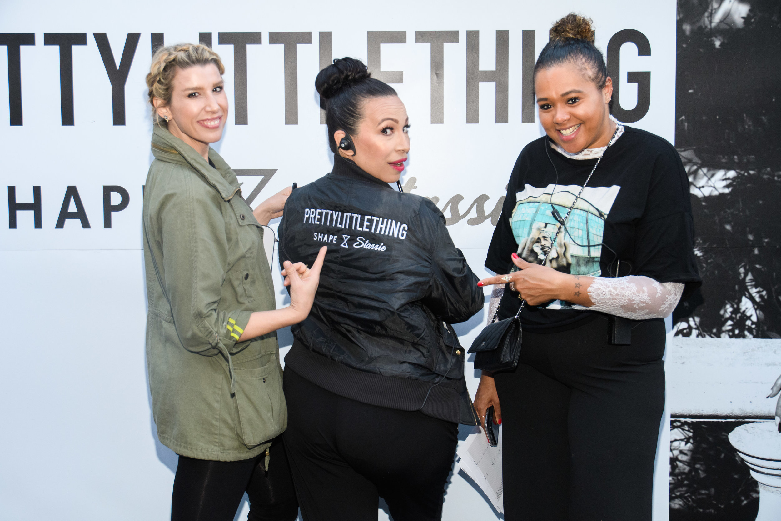 PrettyLittleThing New PLT Shape Collection with Stassie Celebrity Launch Party Lori from WOTP showing off PLT jacket.jpg
