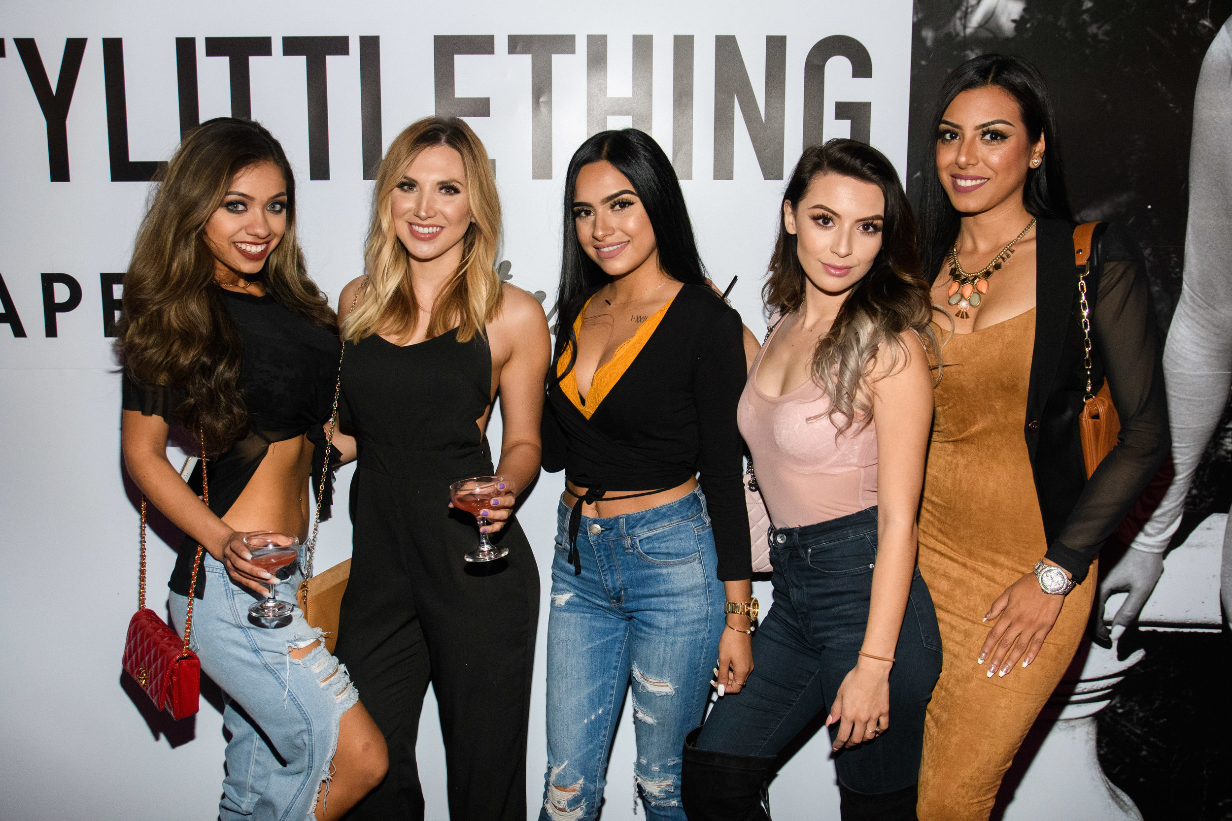 PrettyLittleThing New PLT Shape Collection with Stassie Celebrity Launch Party group of ladies at the step and repeat.jpg